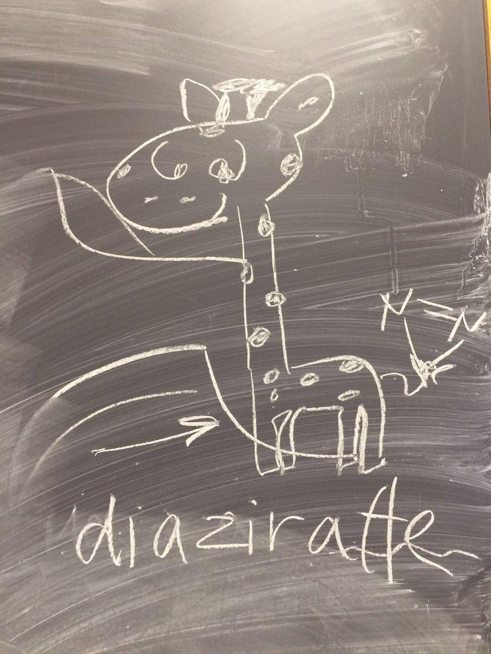 Diazirine + Giraffe = Diaziraffe