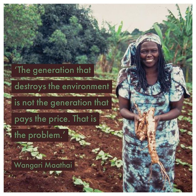 Environmentalist Wangaari Mathai was the first African woman to win the Nobel Peace Prize. Reminded of her words today as the largest day of climate action in the planet's history gathers momentum, led by young people. Who else is marching? #climatechange #climatestrike #gretathunberg