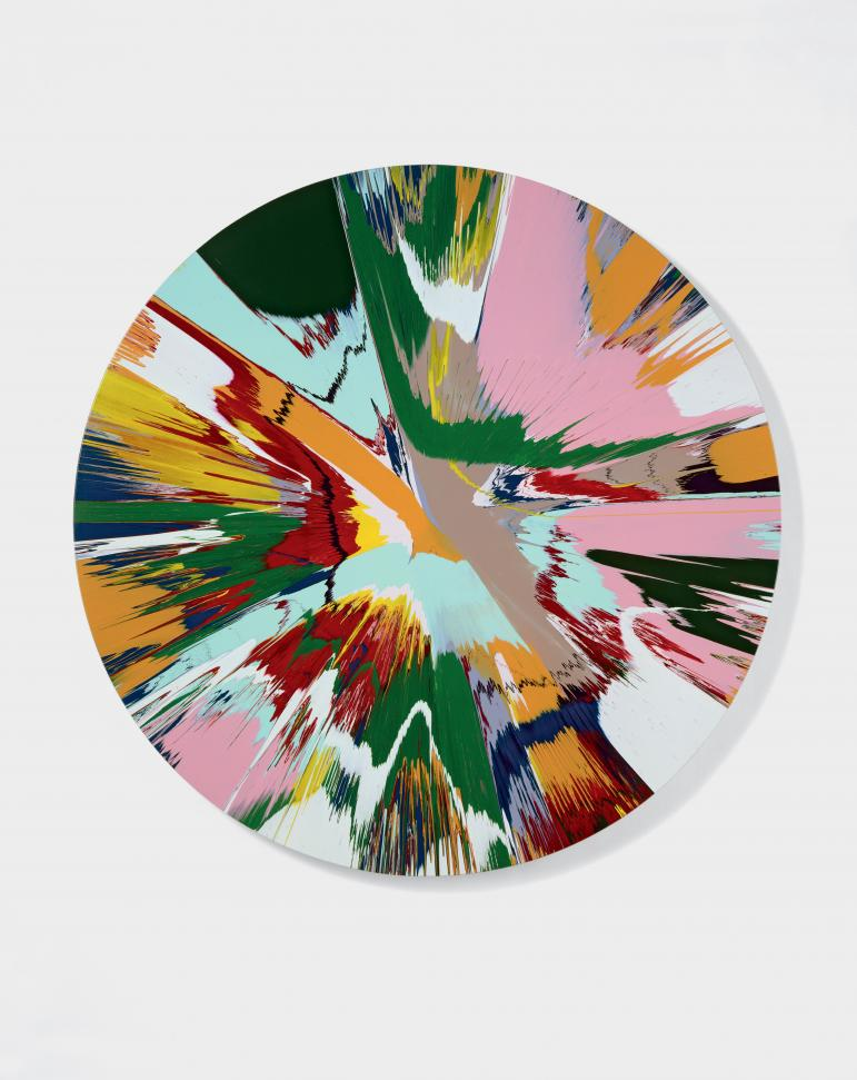 Damien Hirst, Beautiful Winged Creatures Eternal Joy of Creation, What's Up There? Painting , 2007