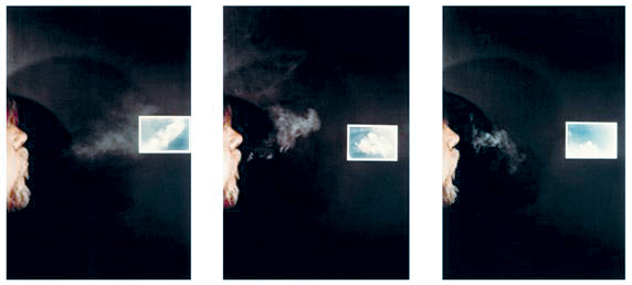 John Baldessari, Cigar Smoke to Match Clouds that are Different (By Sight-Side View) ,1972