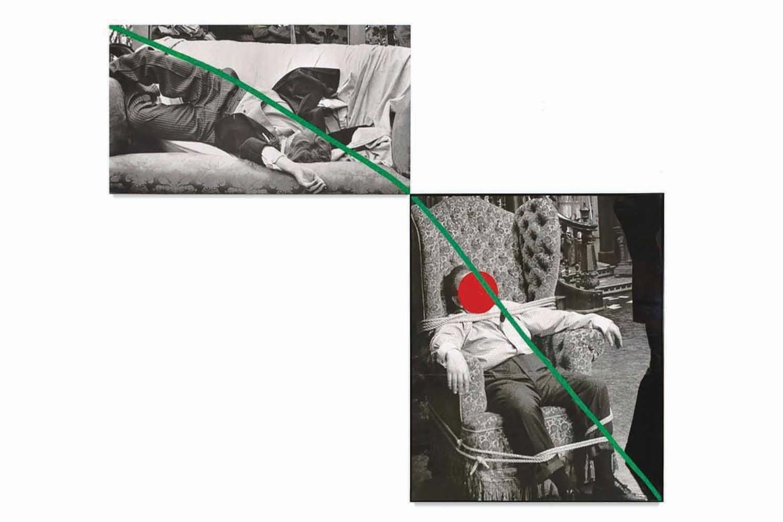 John Baldessari, A Fix'd Inflexible Sorrow, 1988