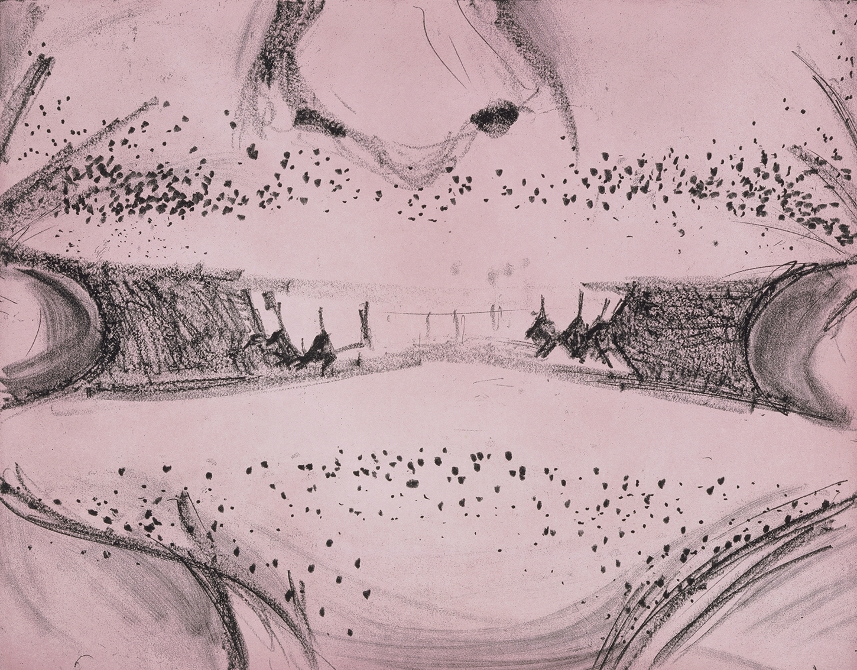 Bruce Nauman, Soft Ground Etching - Rose , 2007