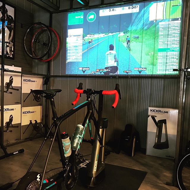 with Port Elgin's Shopper's Night around the corner and Southampton Sparkles over the next climb.. come in and check out our extensive selection of indoor trainers and accessories to make your winter riding both enjoyable and a lot warmer!  #wahooligan #tacx #trekbikes #zwift #fulgaz #rideinside