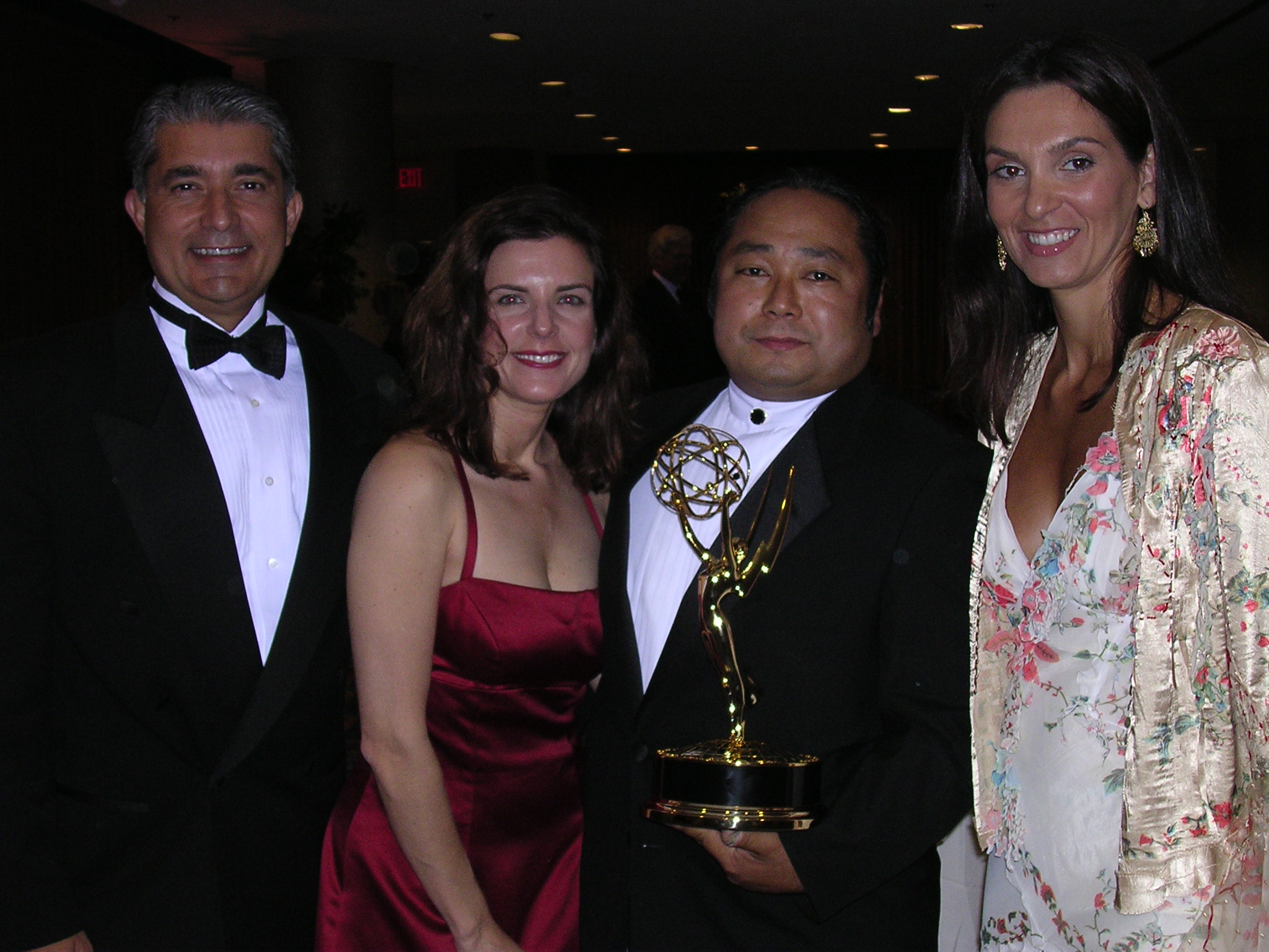 Bringing Emmy back to our table to celebrate with my best friends who traveled all the way to NYC. You gotta keep the faith. JB Burtin, Mary DeRosa Hughes, the cinematographer, and Rose Burtin.