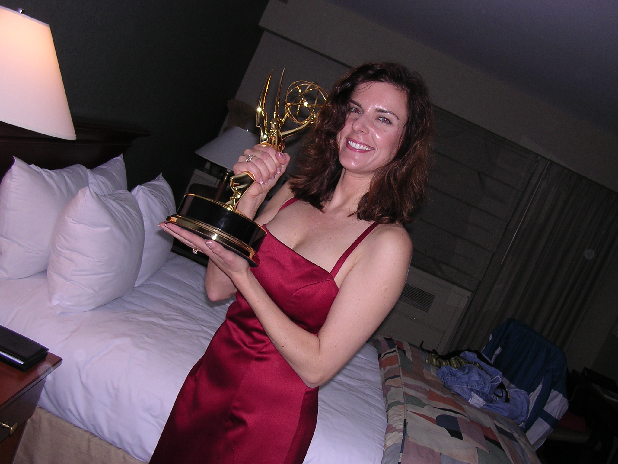 Upon returning with Emmy to The Muse (our hotel), Mary had a great idea of taking Emmy on a walk of victory around Times Square. So we changed out of our formal attire and into our victory clothes and spent the next couple of hours sharing Emmy with her fans.
