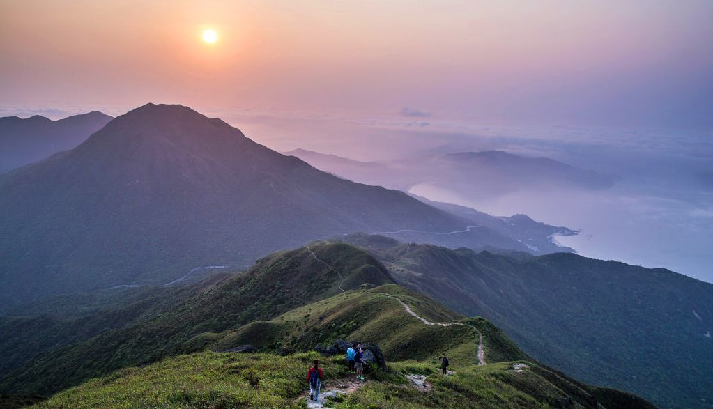 Lantau island with its beautiful peaks and mountain walks!