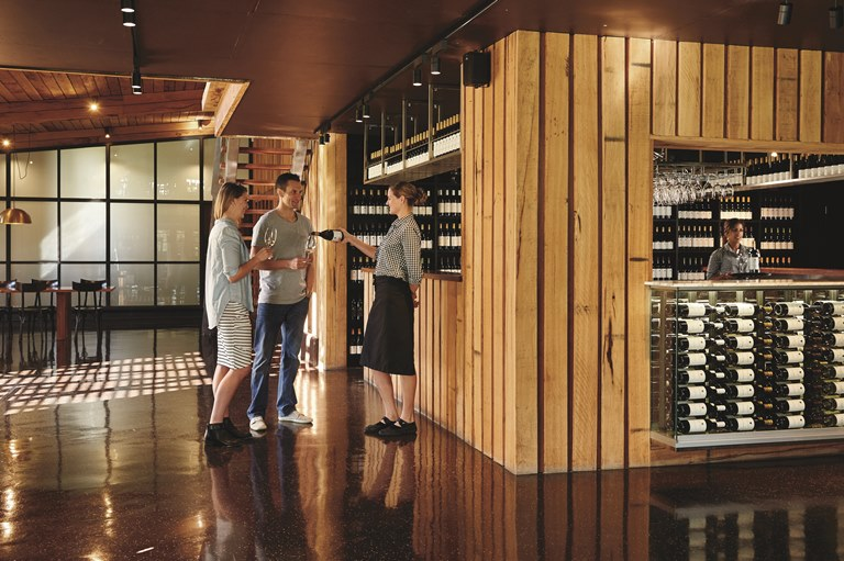 The elegantly designed and functional Vasse Felix cellar door