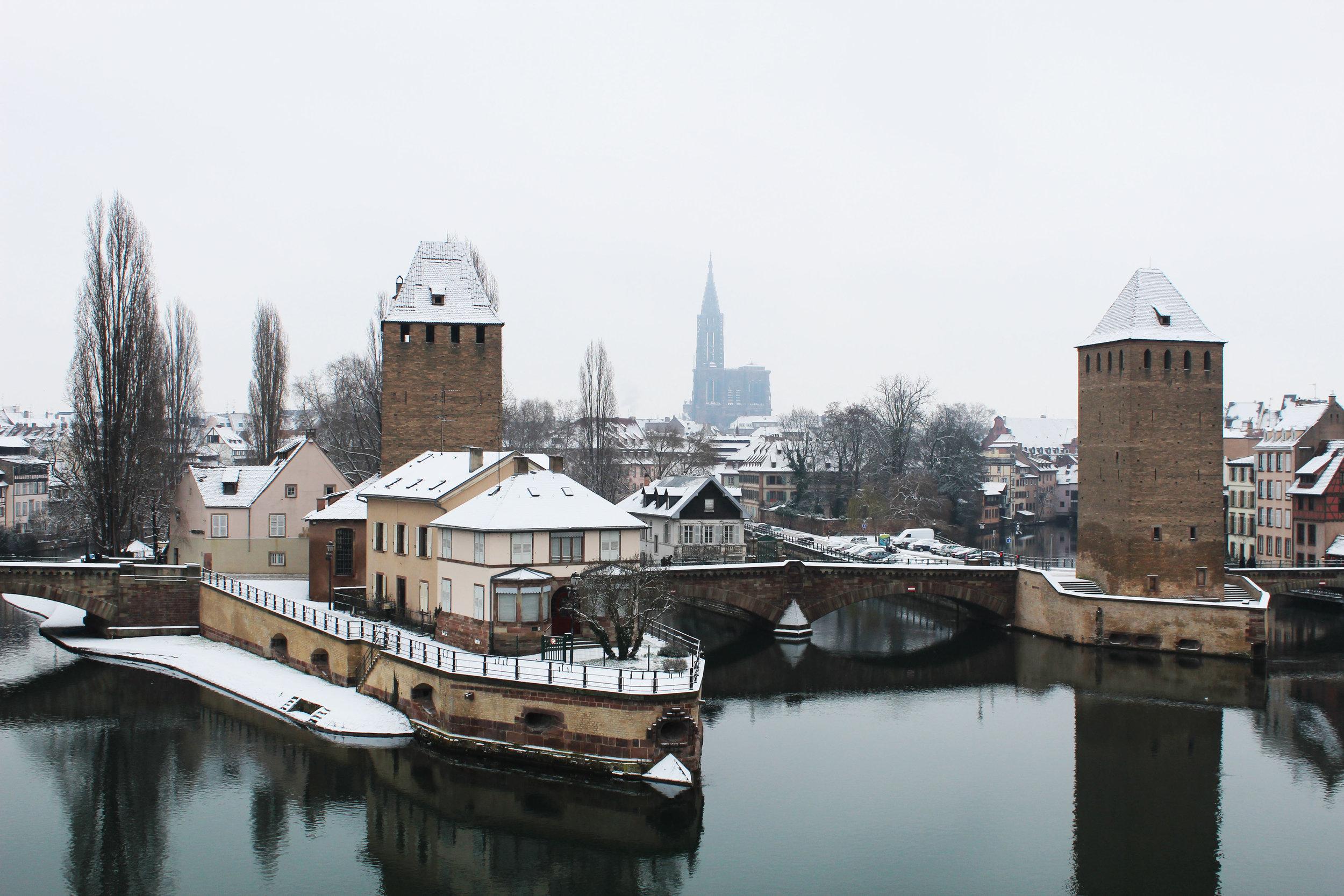 Snow in Strasbourg