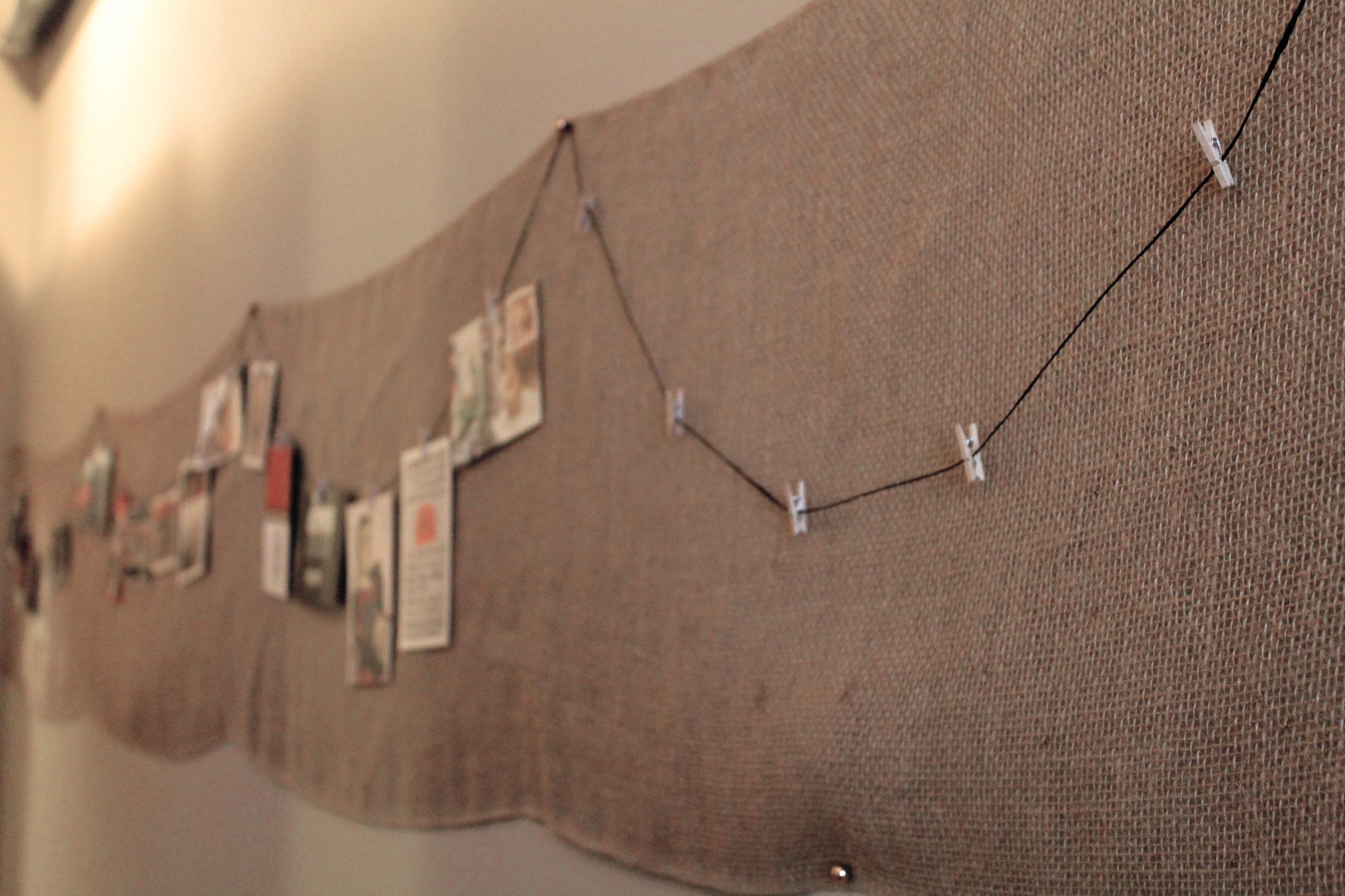 Burlap Wall Gallery Decor