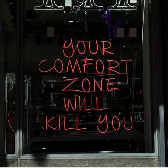 Someone somewhere said that your comfort zone is a beautiful place where nothing grows