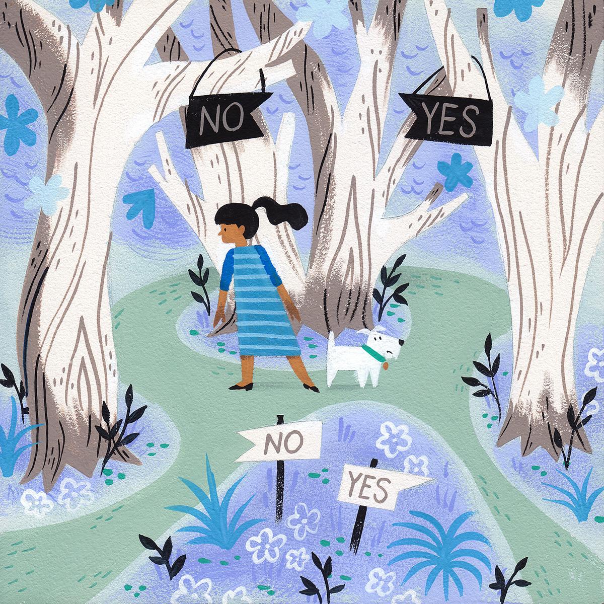 Illustration by Ellen Surrey, via The New Yorker.