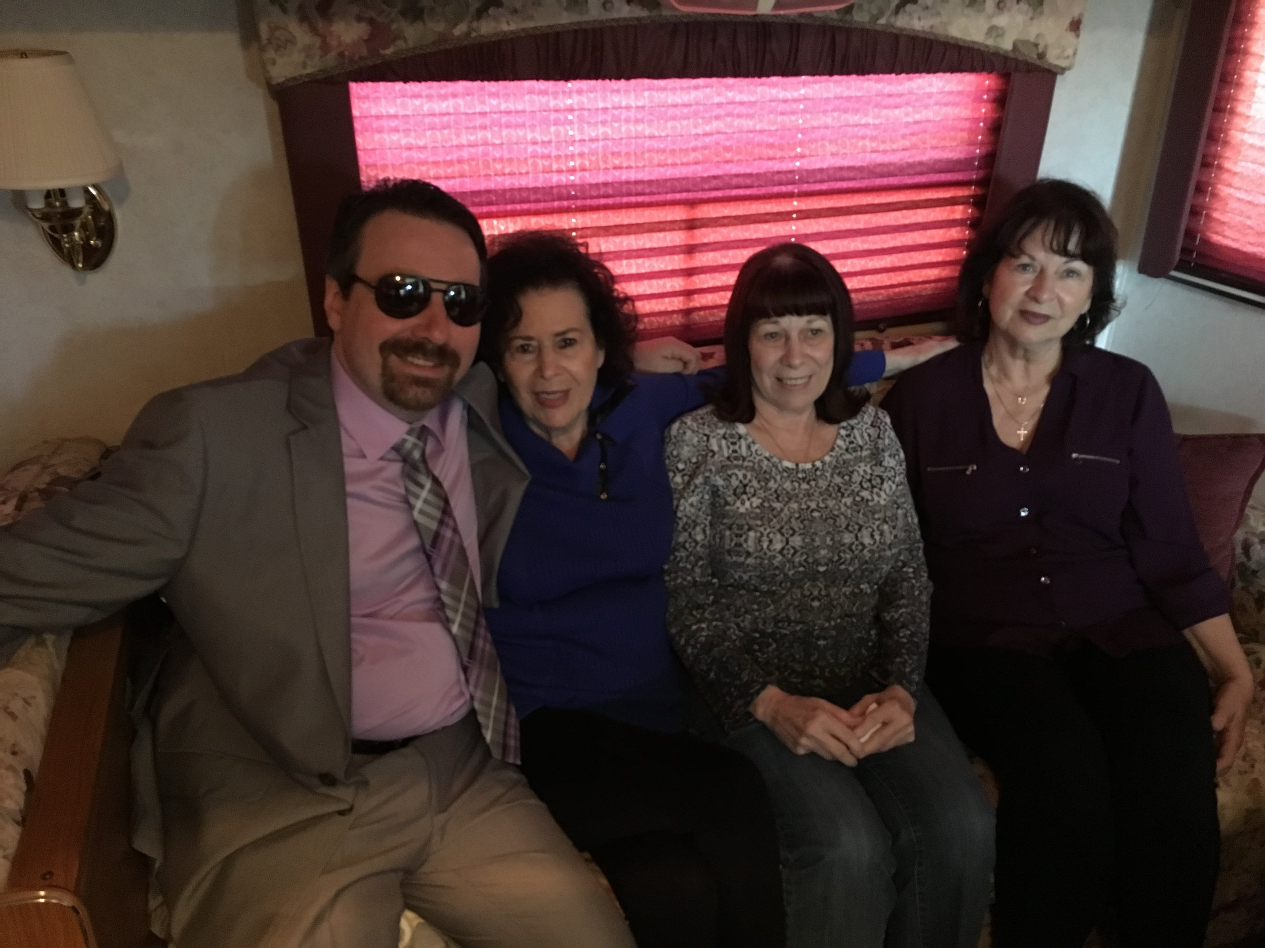 Ralph II, his mother Jimmi, and aunts.