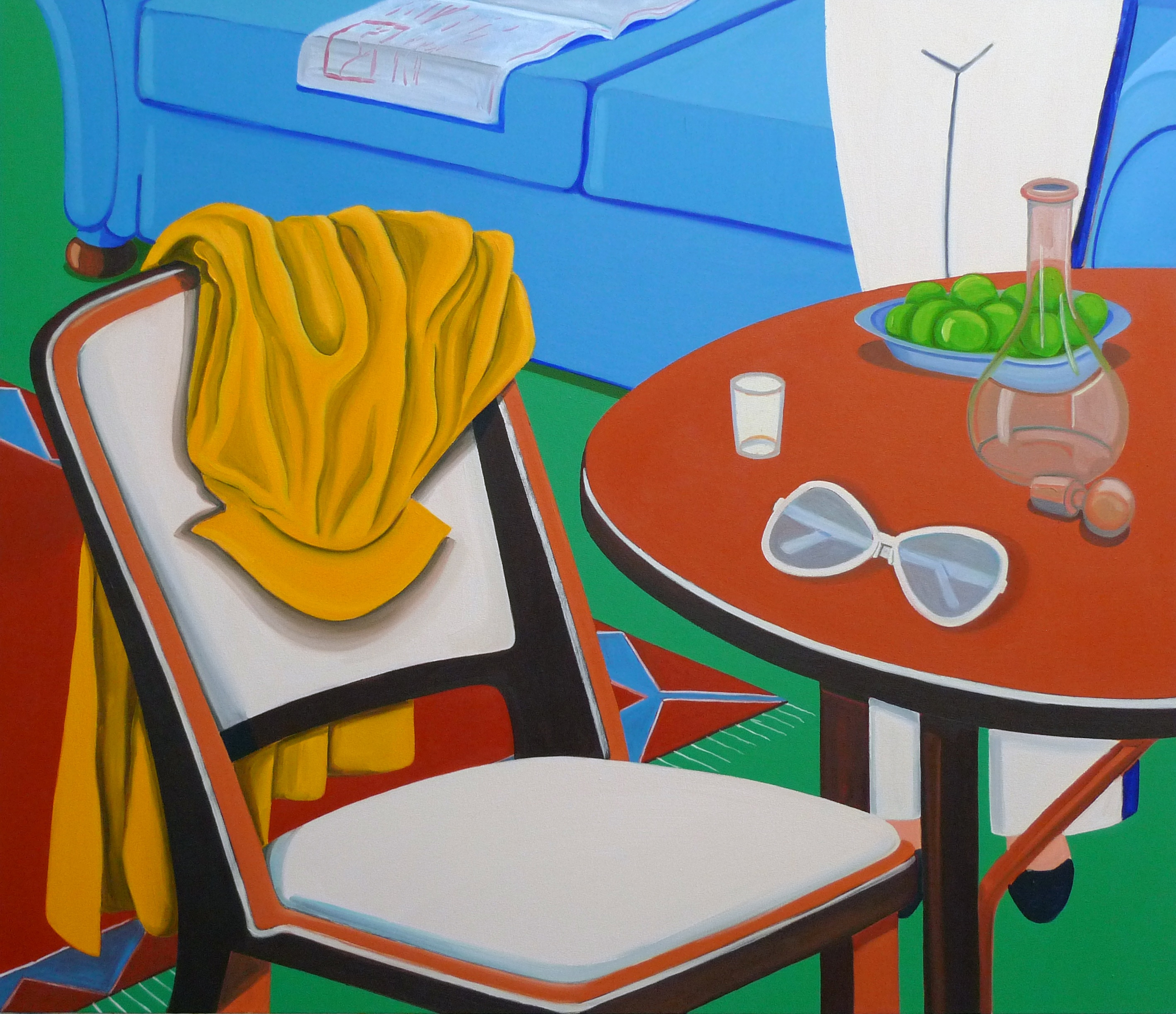 Self-Loathing in Montecarlo  2010 Oil on canvas, 103 x 120 cm  Private Collection