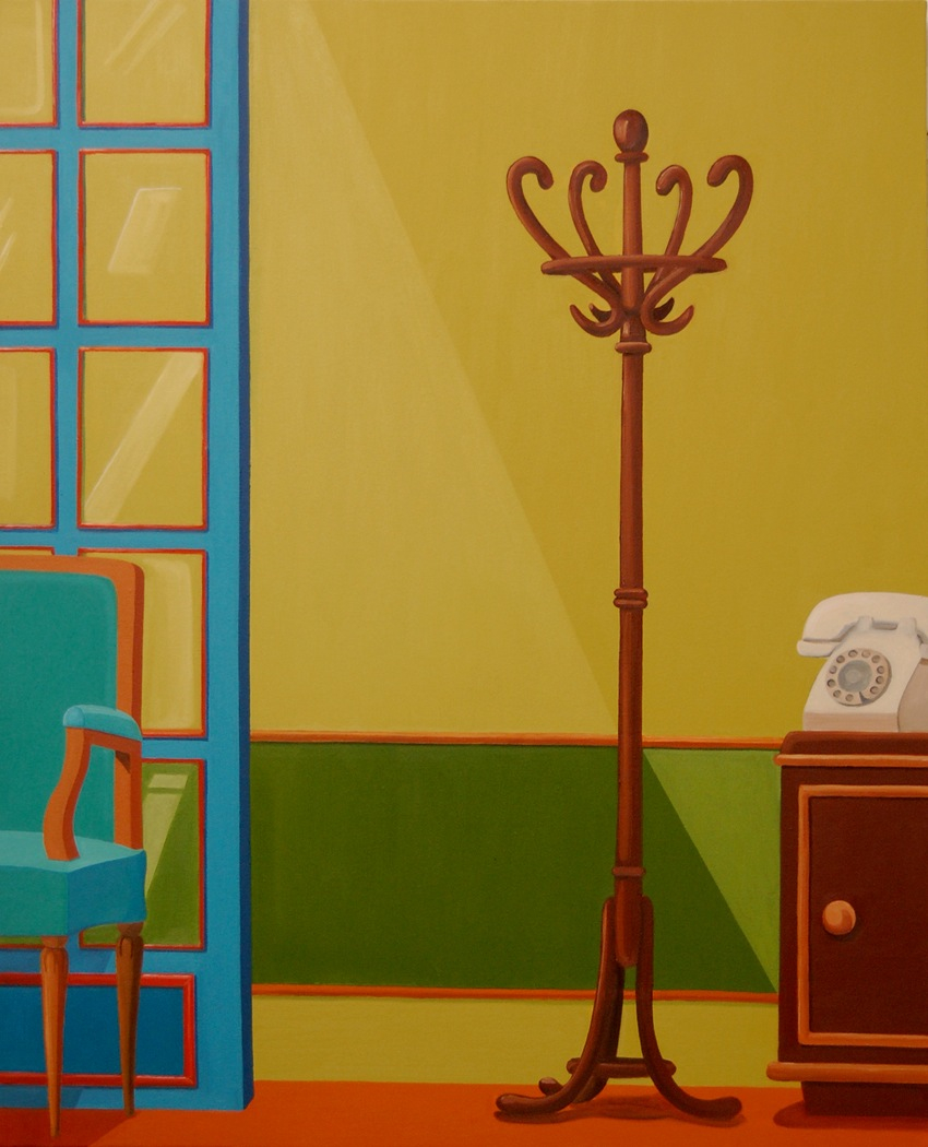 Vestibule  2010 Oil on canvas, 130 x 106 cm