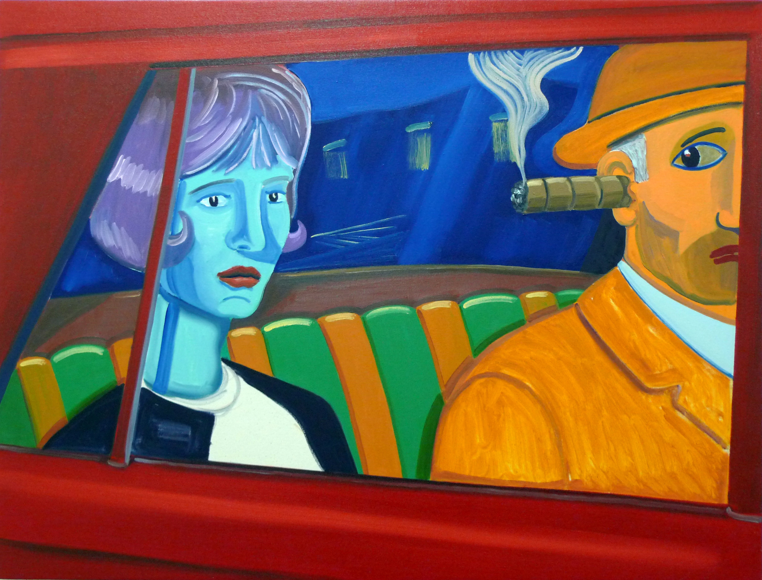 Couple in a Car  2011 Oil on canvas, 70 x 93 cm  Private Collection