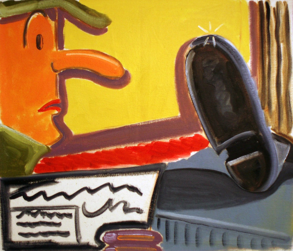 20th Century Man  2010 Oil on canvas, 42 x50 cm  Private Collection