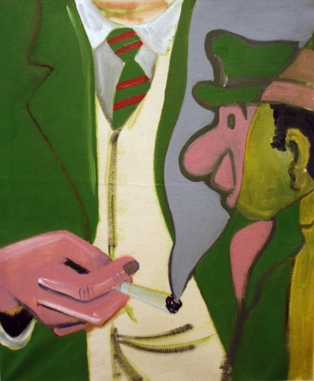 Double Gent   2010 Oil on canvas, 51 x 42 cm   Private Collection
