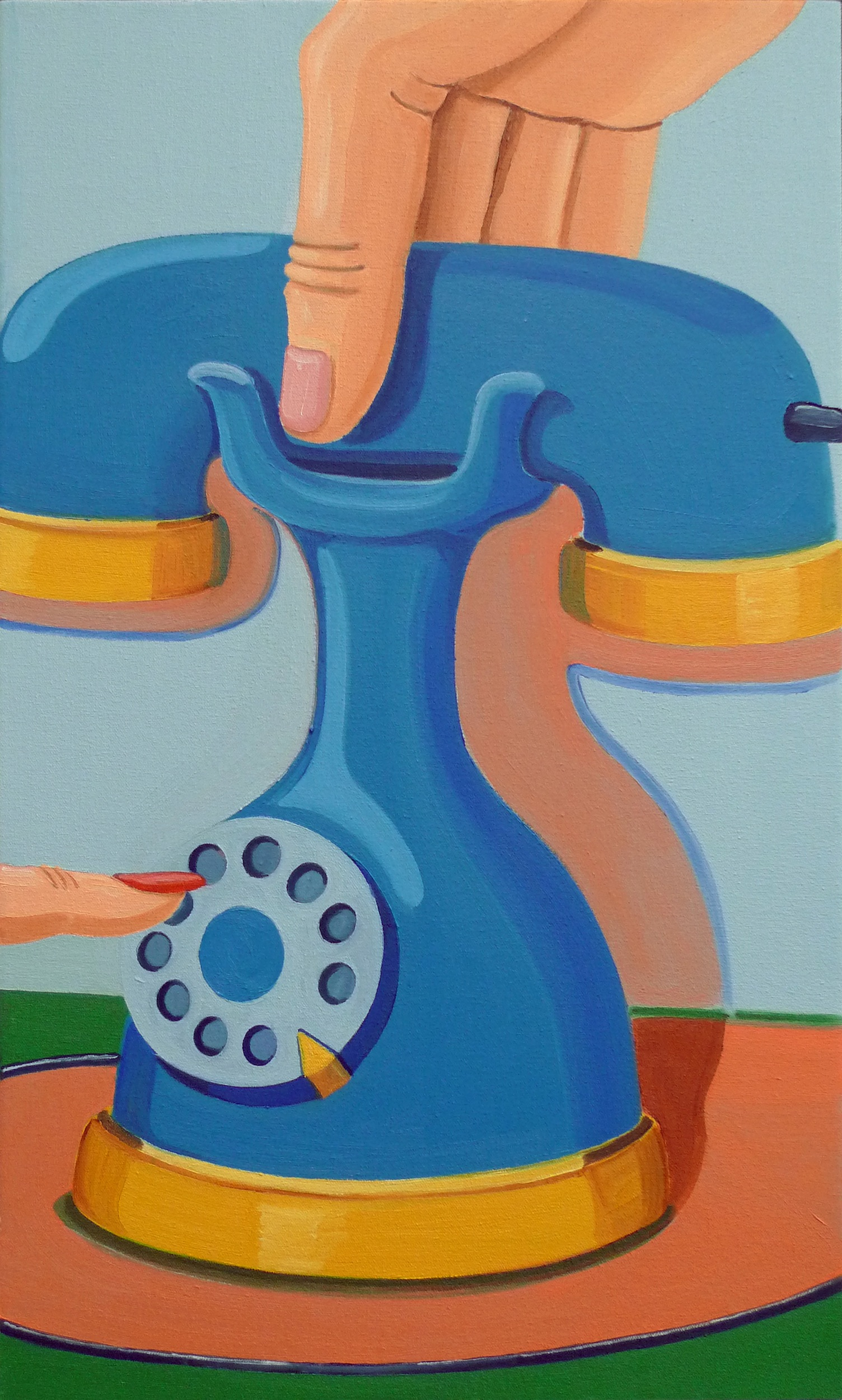 Expert Handling  2010 Oil on canvas, 54 x 32 cm  Private Collection
