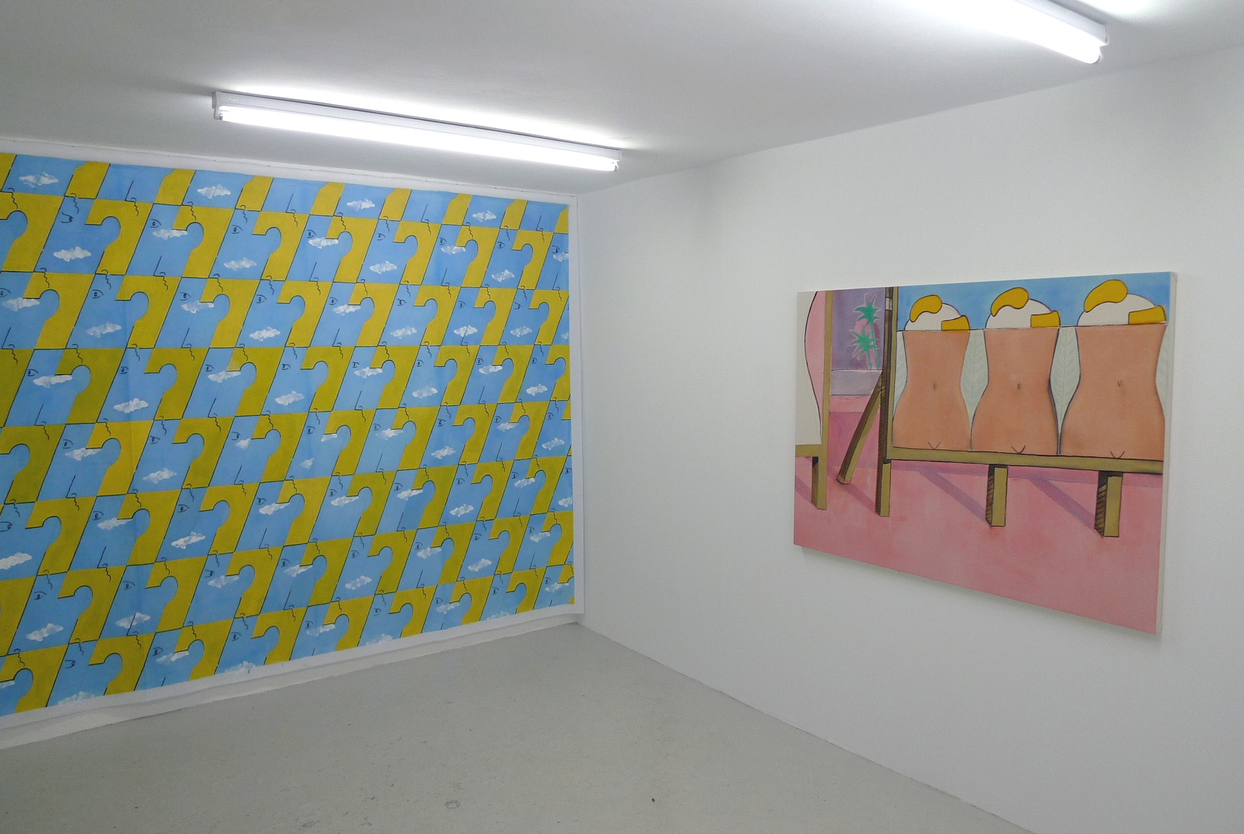 Installation view,  Friendly Horizons , Locomotion, 2013