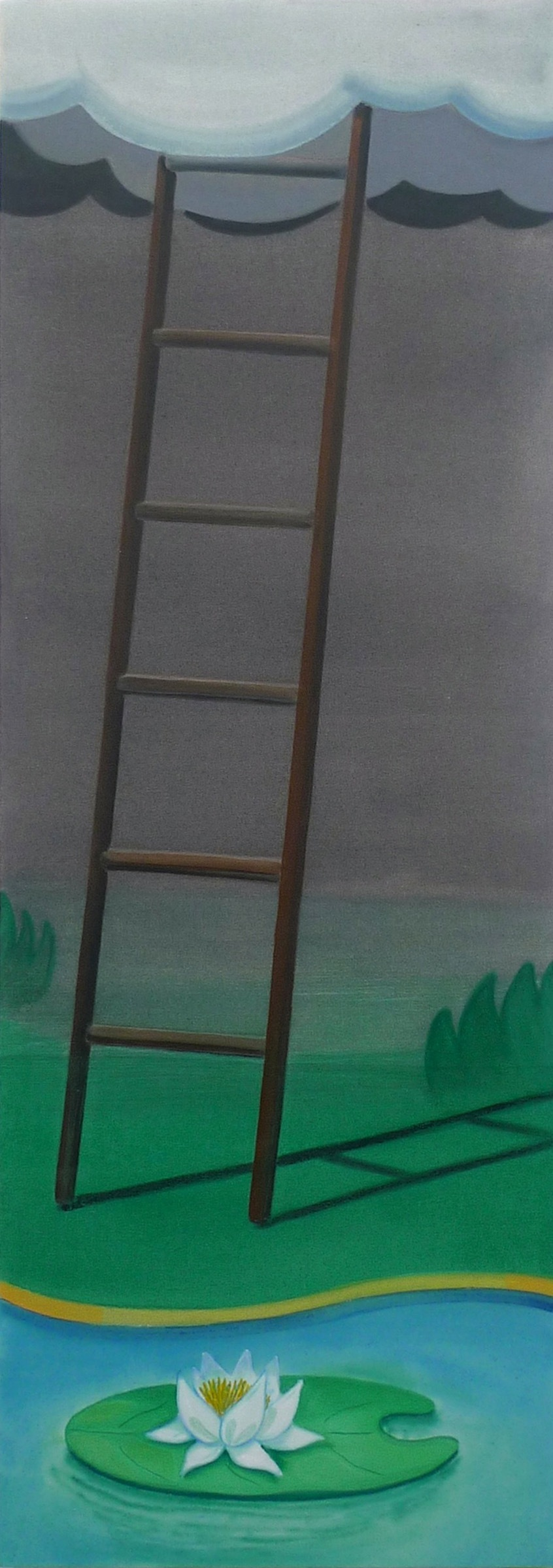 Playground for Dreamers  2015 Acrylic on Canvas, 175 x 62 cm