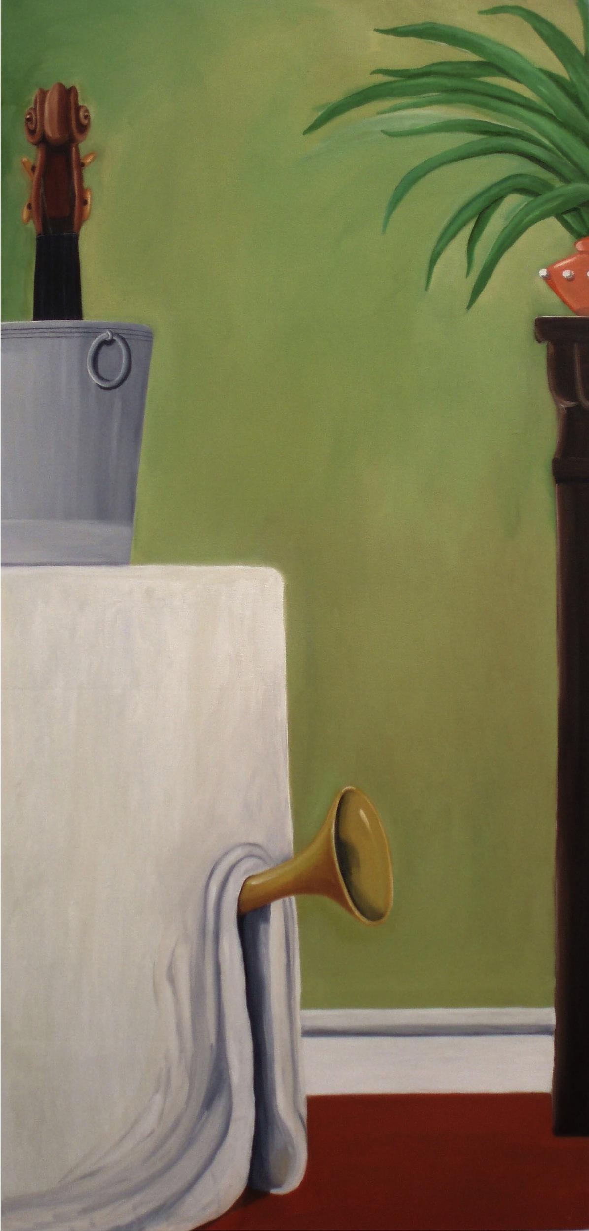 Sudden Horn  2007 Oil on canvas, 125 x 60 cm