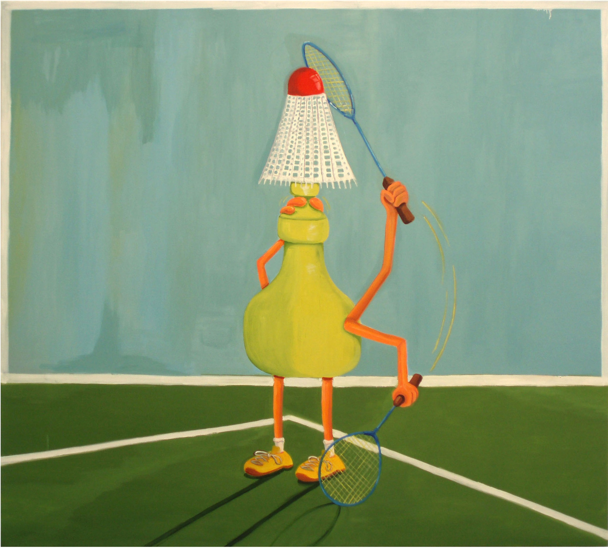 The Sportsman  2007 Oil on Canvas, 117 x 130 cm  Private Collection