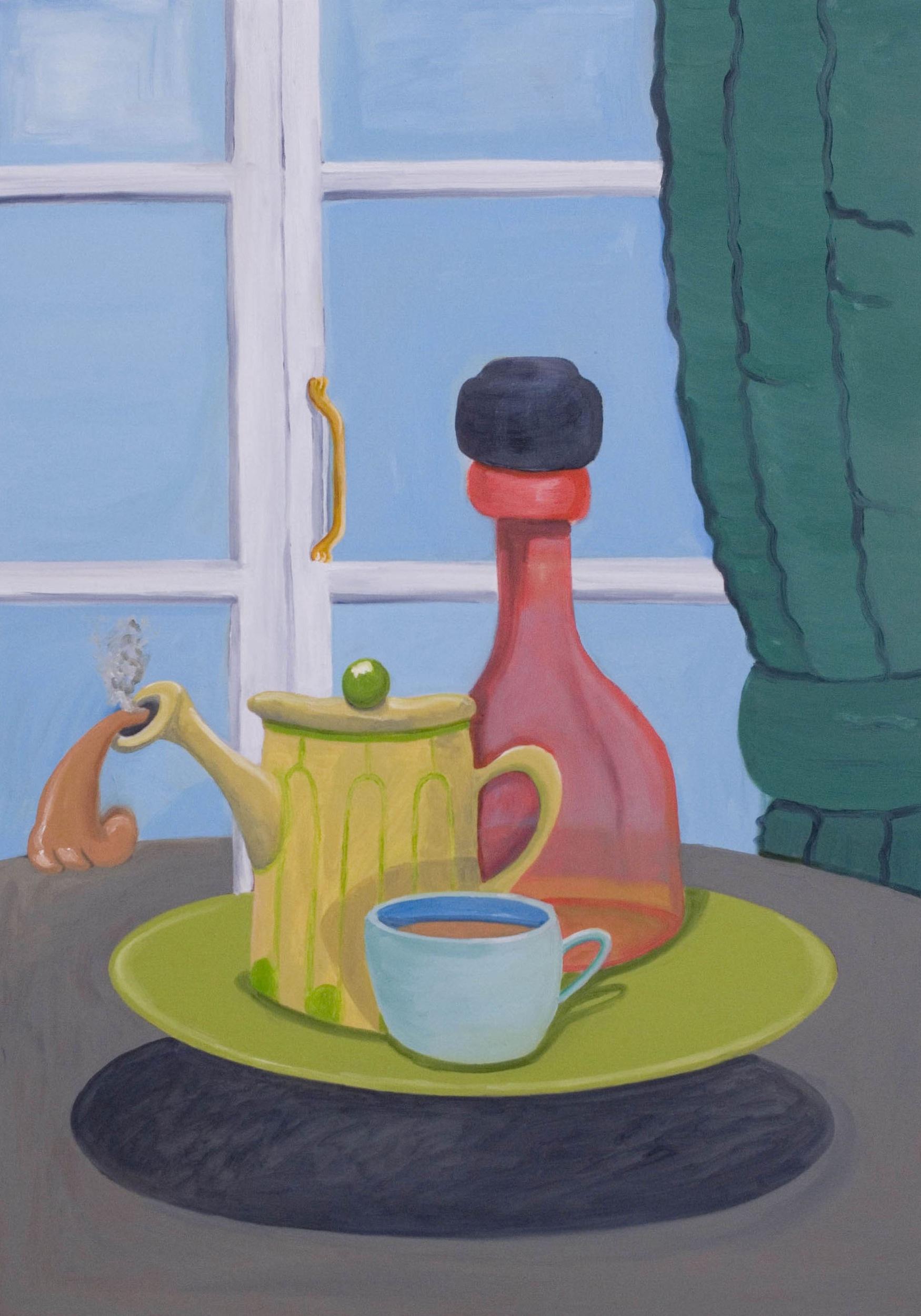 Levitating Tea  2007 Oil on Canvas, 100 x 70 cm