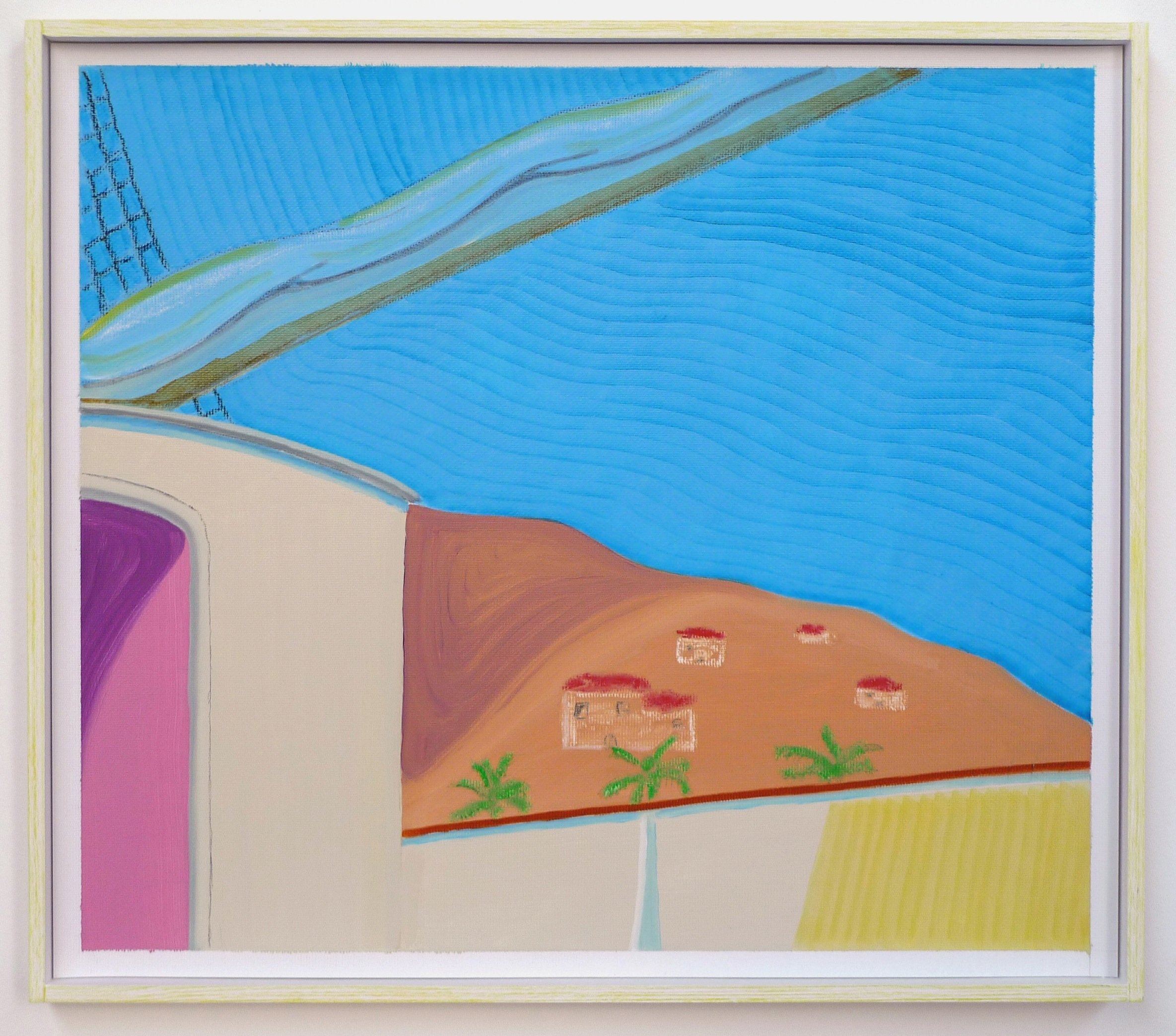 Near Land  2012 Oil and oil pastel on paper in artist's frame, 31.5 x 35 cm  Private Collection