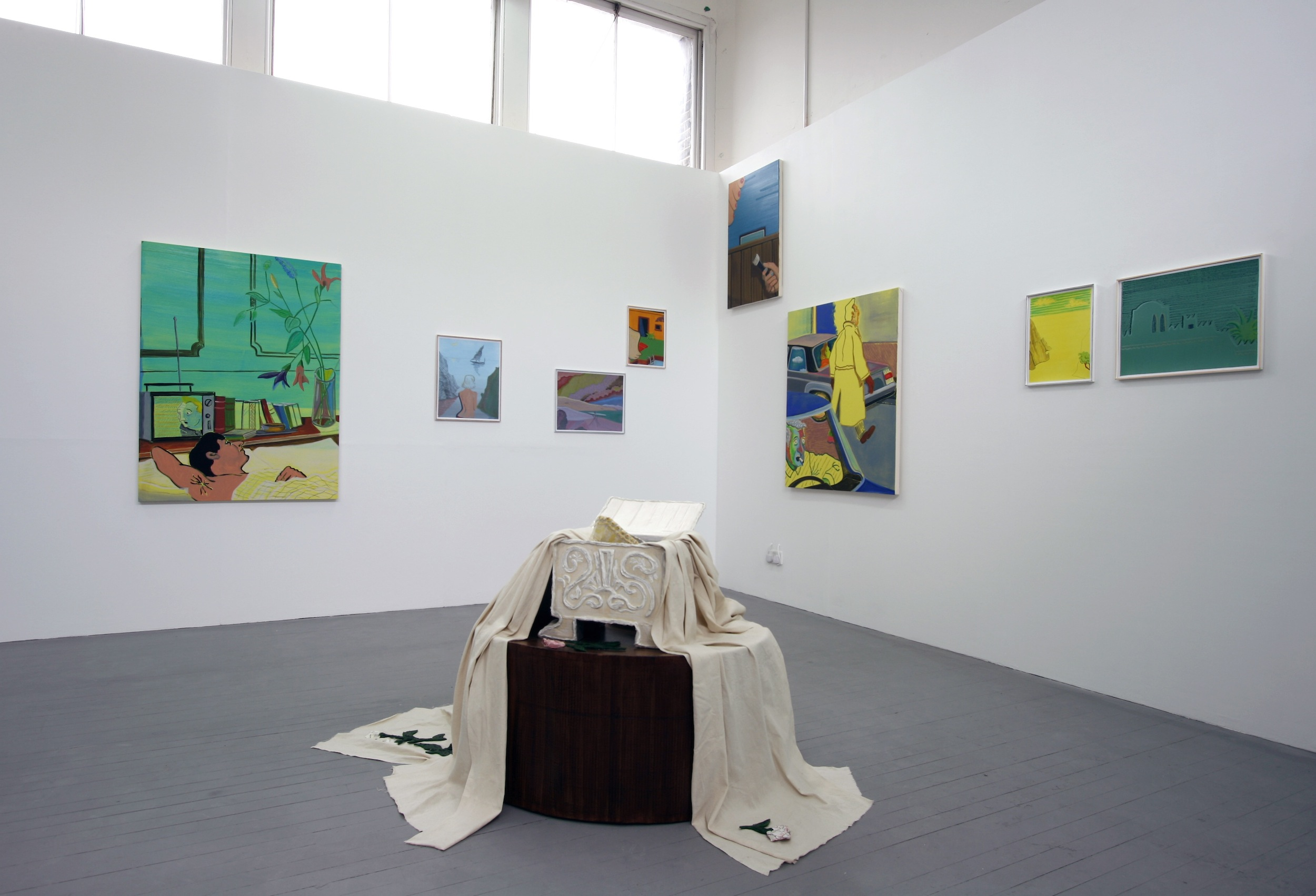 Installation view,  Slade Degree Show , 2011 (object in foreground by Anna Bunting-Branch)