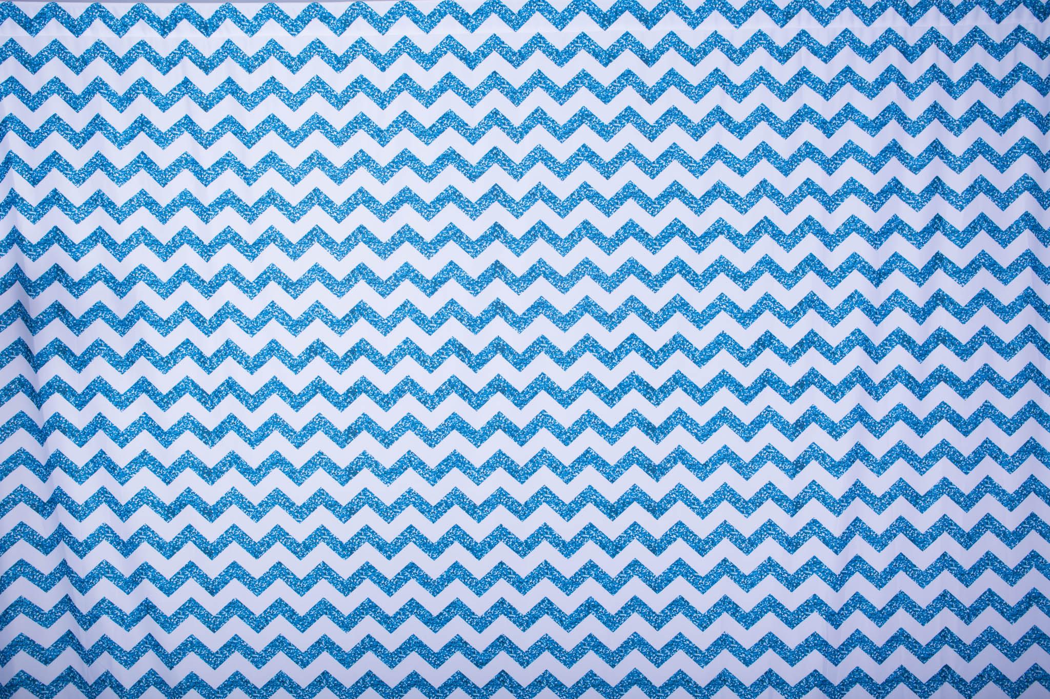 Copy of GLITTERY BLUE CHEVRON