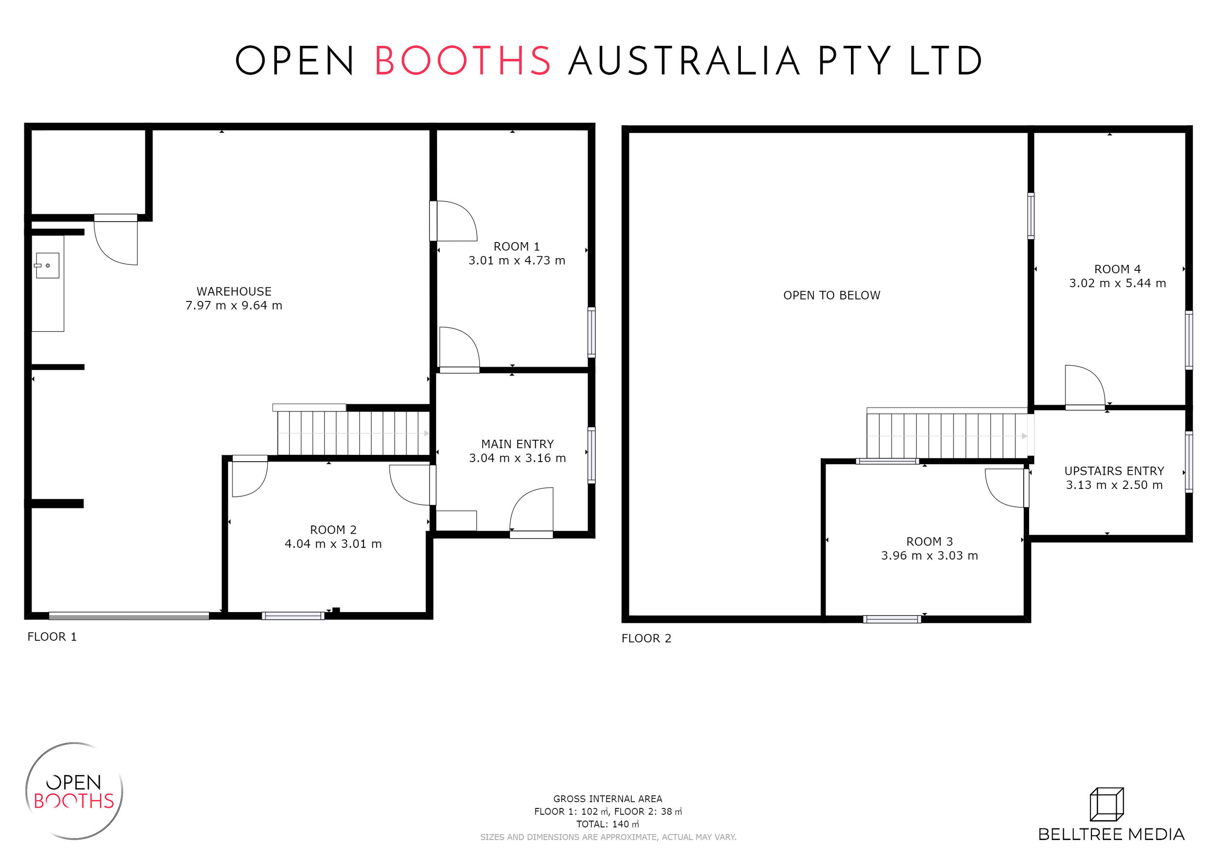 Open Booths Headquarters Schematic Floor Plan