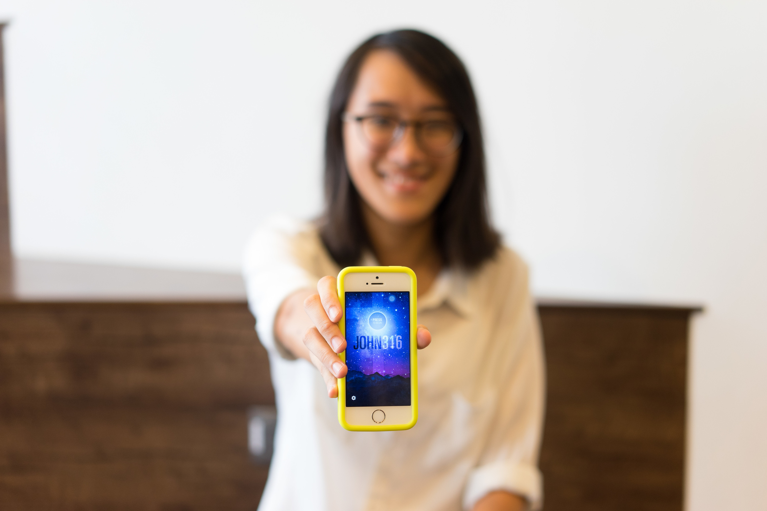 """Through the App, I was able to lead a friend to Christ for the very first time!"""