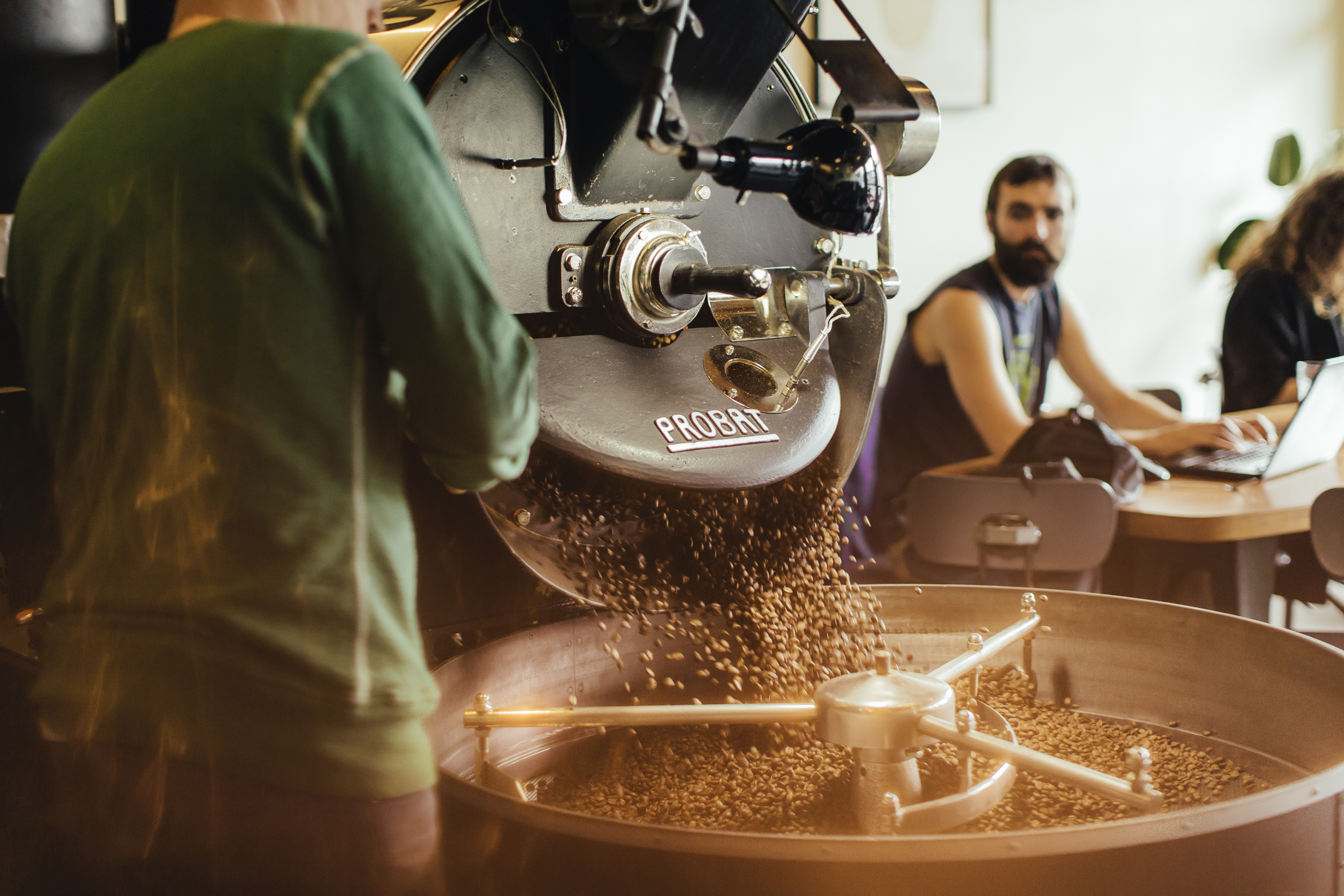 """Wille doing his thing, rocking out some sick coffee - even the bearded dude to the right is eyeing that coffee saying, """"Gimme that coffee"""""""