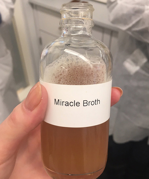 A bottle of Miracle Broth