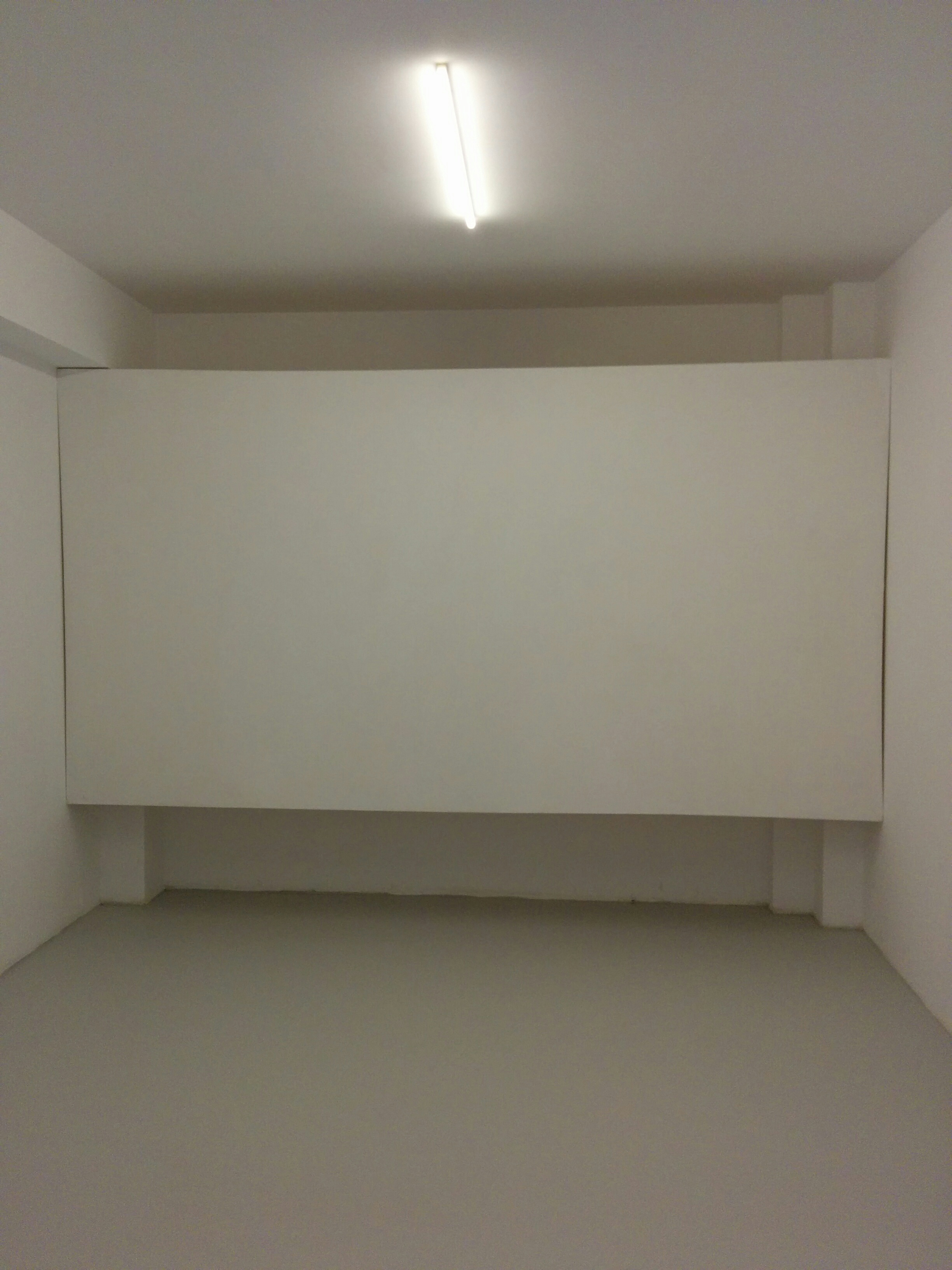 Install day 1, empty projection room.