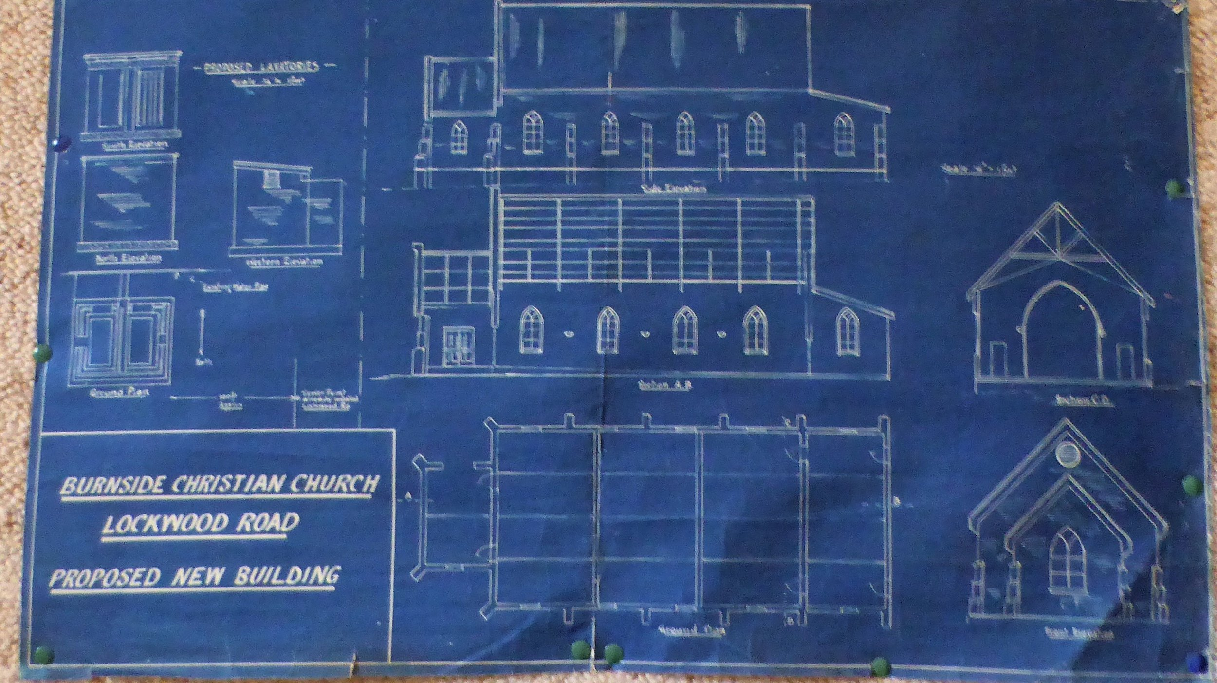Draft plans for 1939 church building