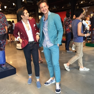 with Marcel Floruss during Tommy Hilfiger during Day 3