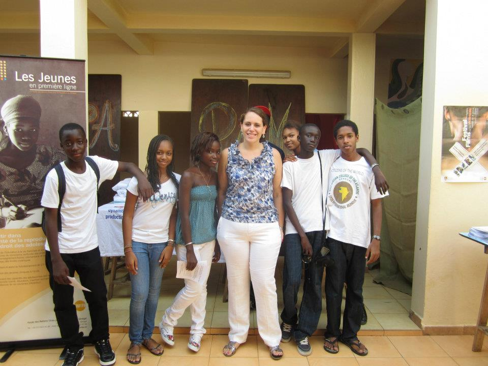 With my eleventh grade students who organized United Nations Day at school, October 2011.