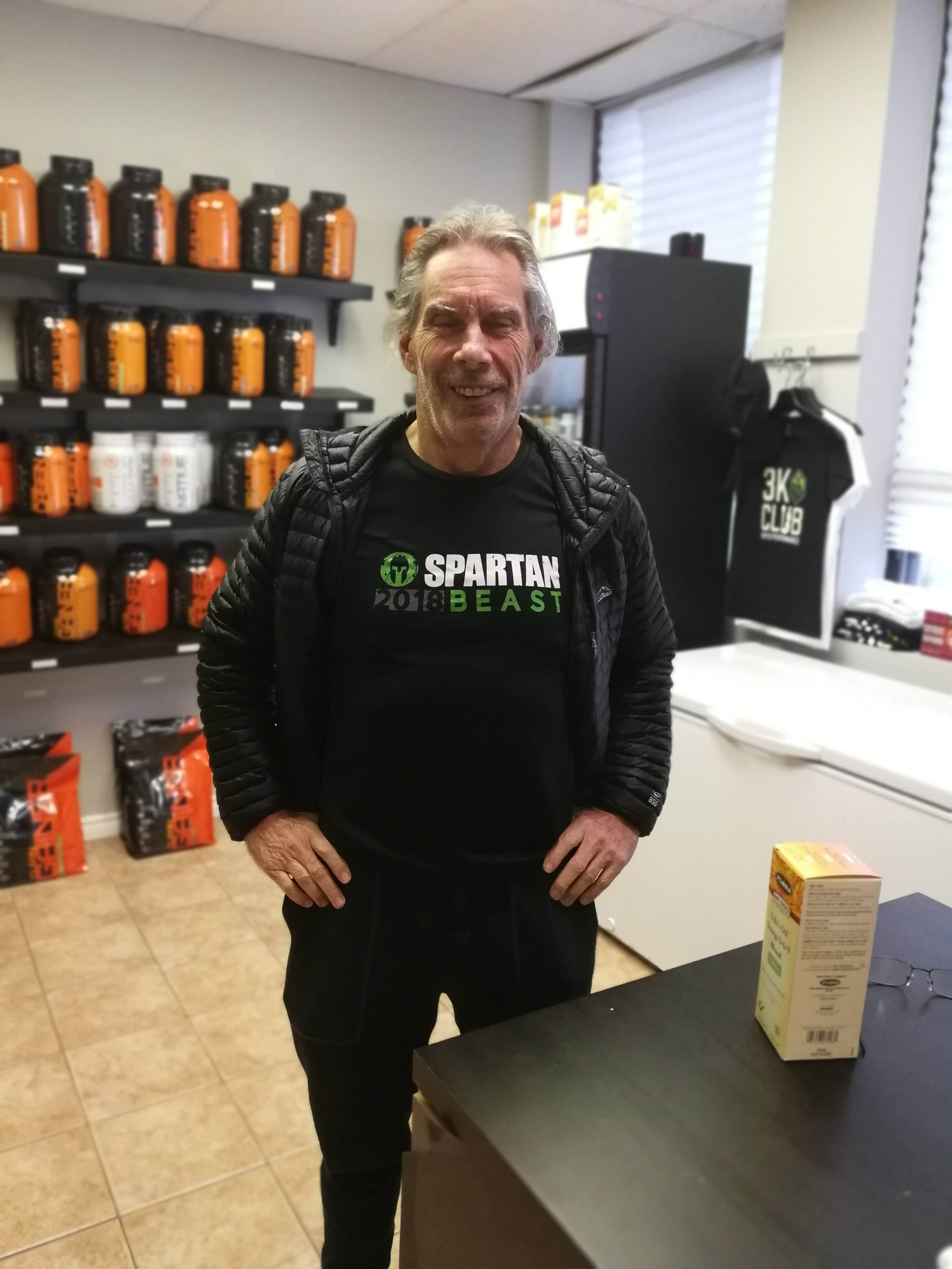 Mike Buying some Udo oil + DHA & Showing off his cool shirt
