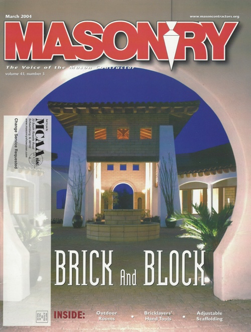 Masonry Magazine Cover 2004