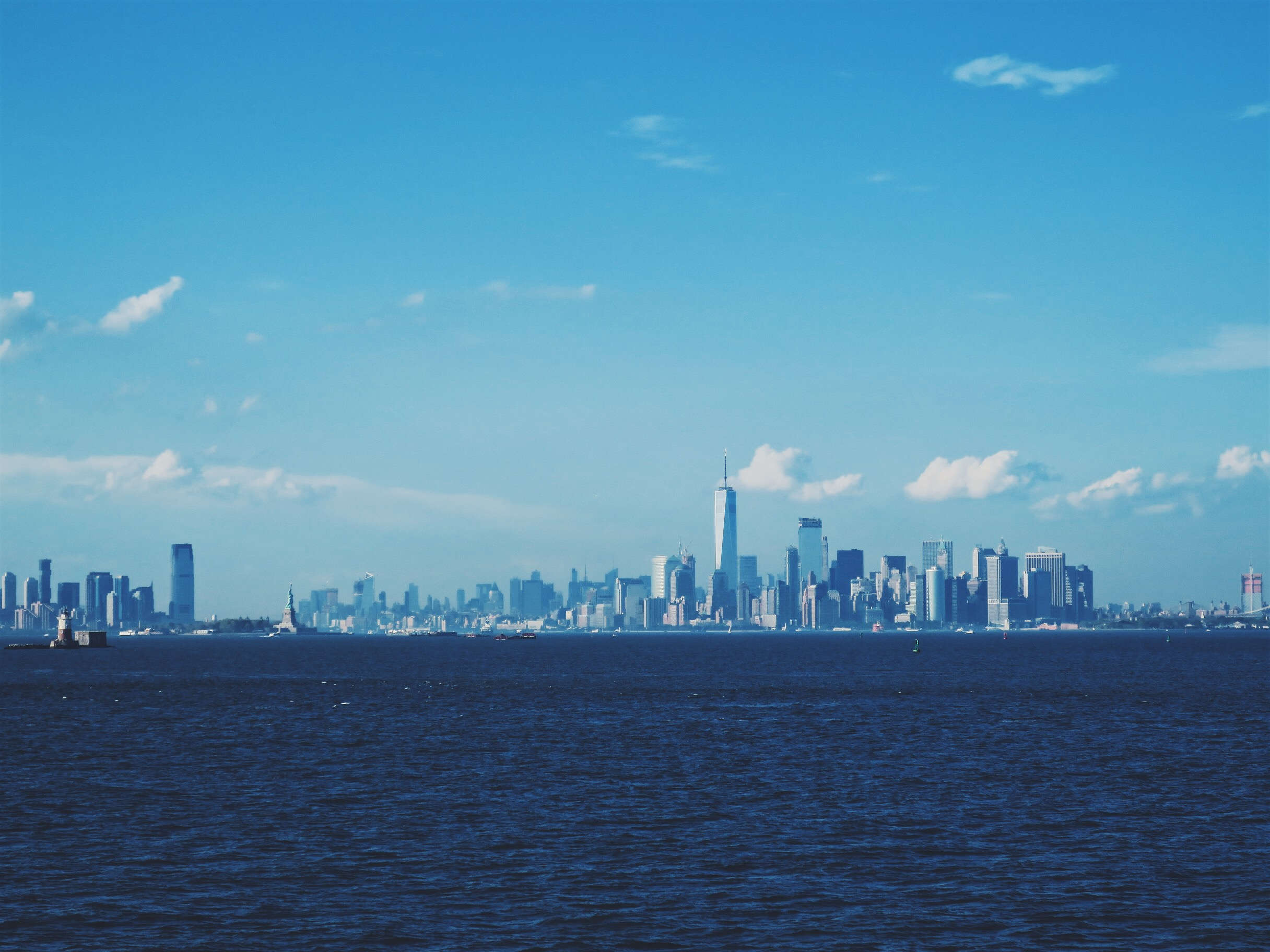 The skyline from the Staten Island Ferry