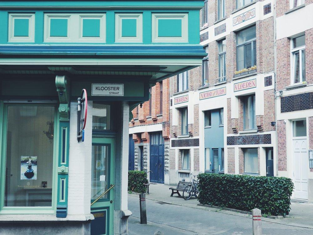 Au coin de la Kloosterstraat et de la Muntstraat