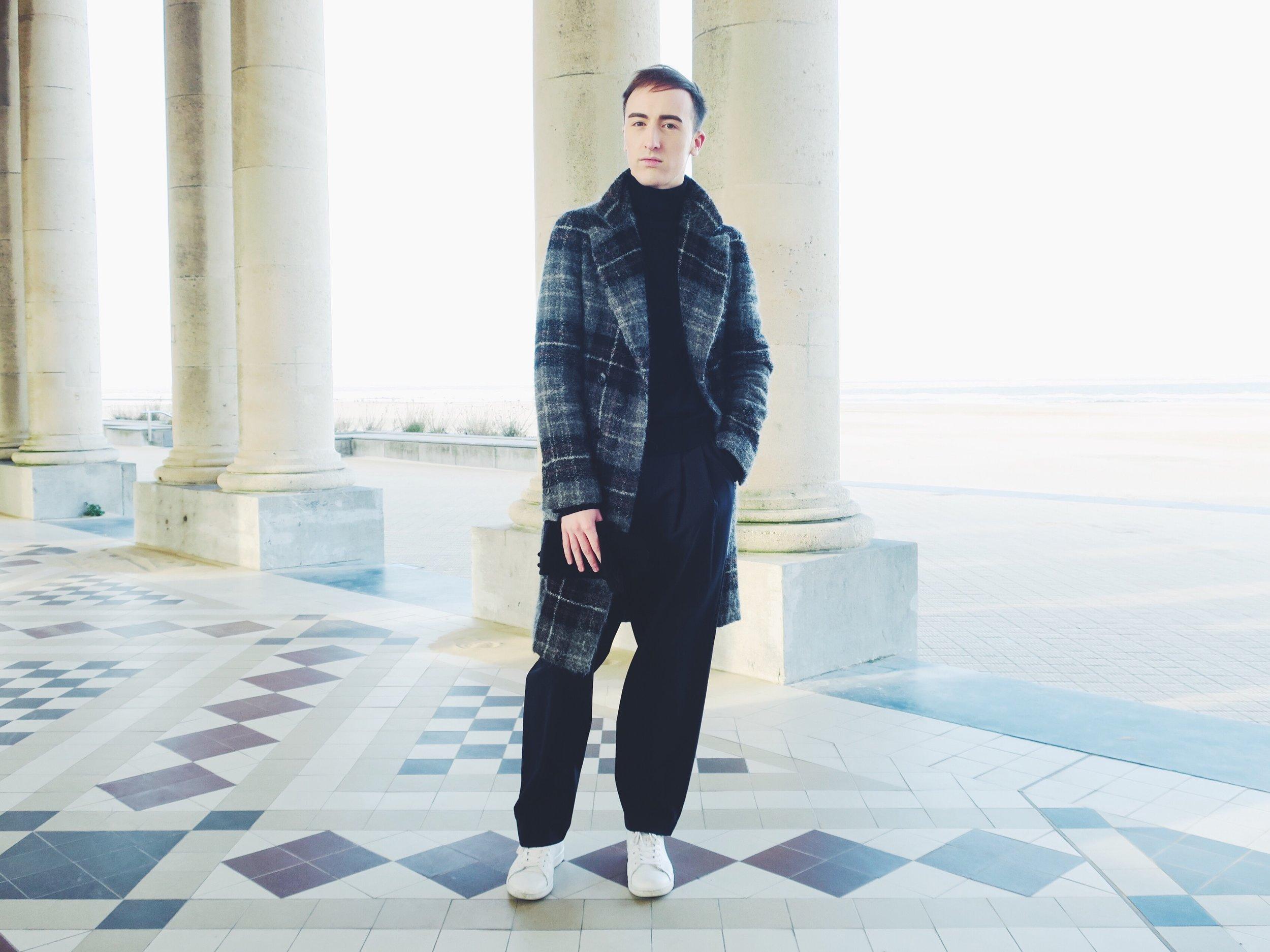 Zara coat - Arket turtleneck - Zara trousers - Adidas Stan Smith sneakers