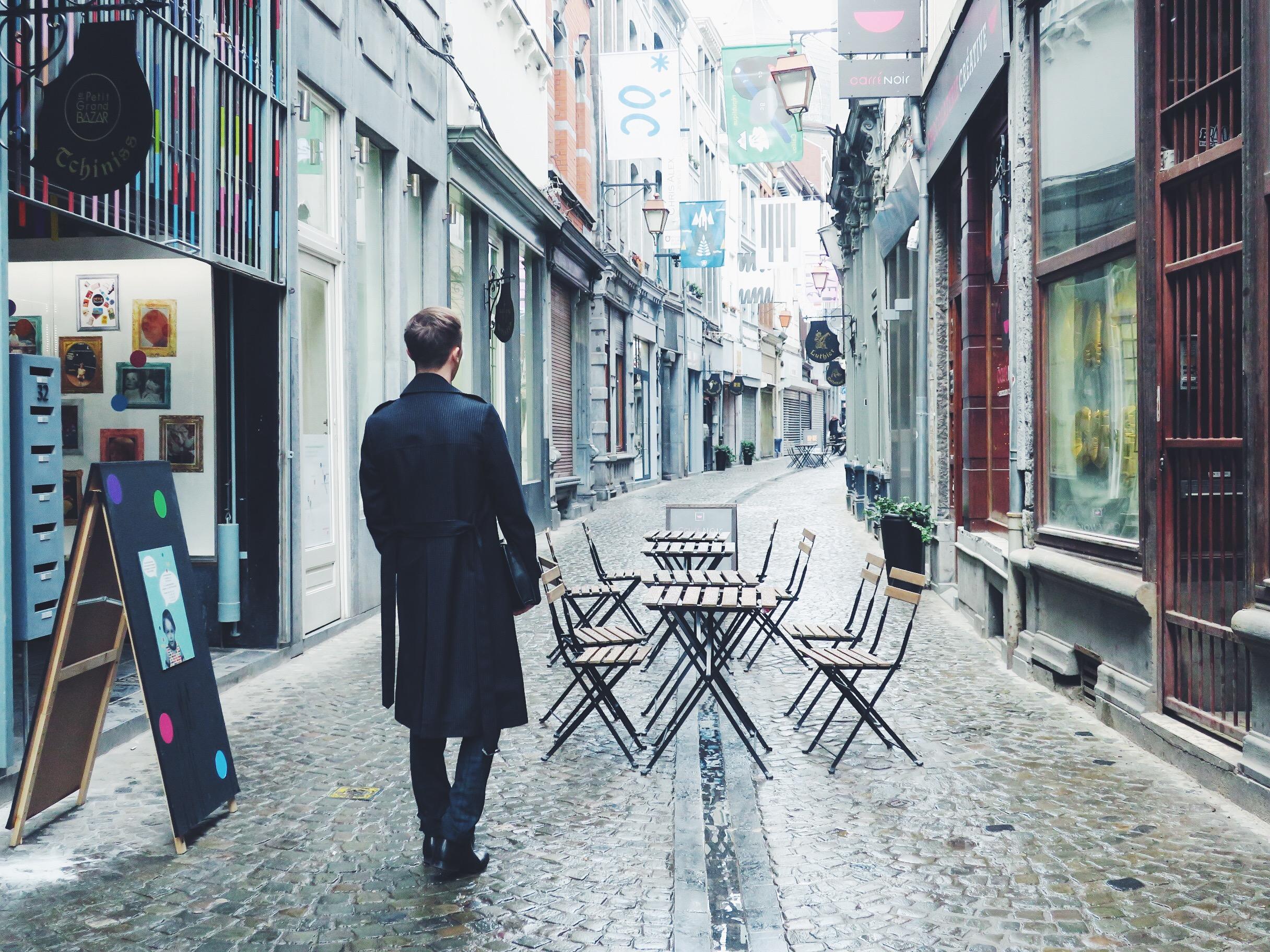 Dries Van Noten coat - Pier One trousers via Zalando - Sacha ankle boots
