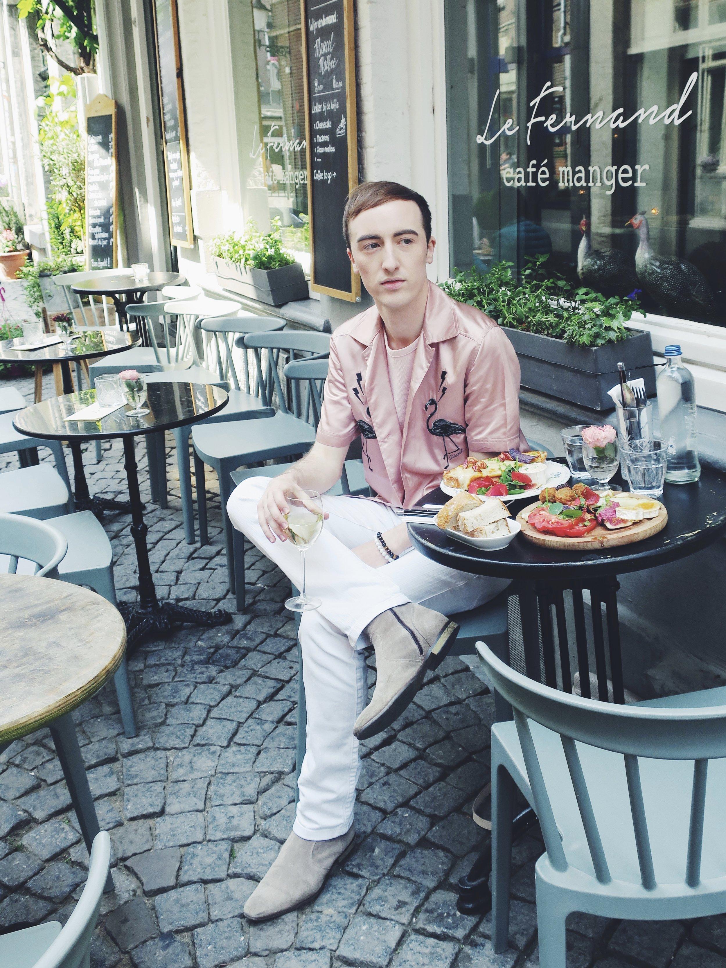 Diesel shirt - H&M t-shirt - Zara trousers - Zign ankle boots