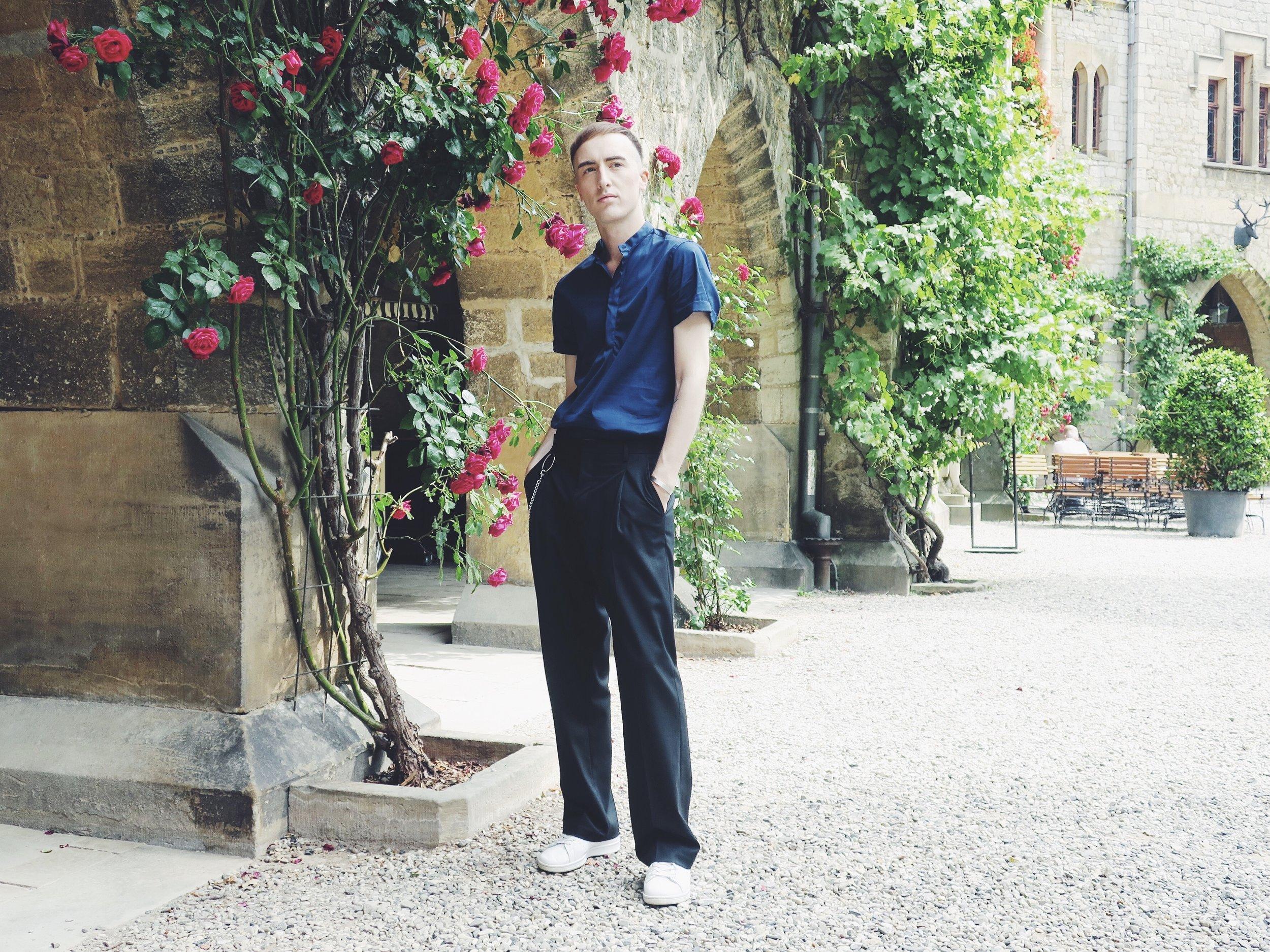 Zara shirt - Zara trousers - Adidas Stan Smith sneakers