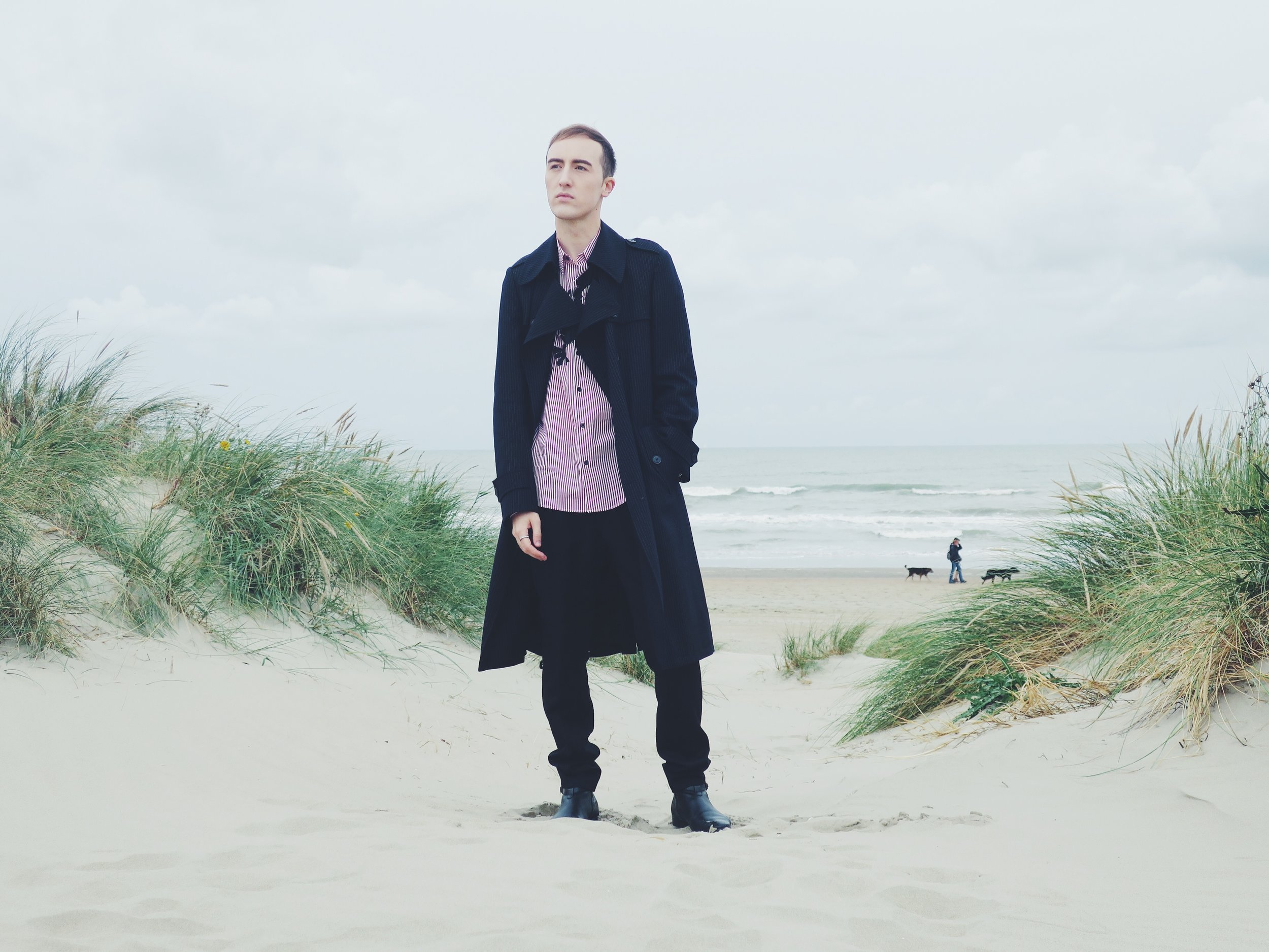 Dries Van Noten coat - Dries Van Noten shirt - Raf Simons trousers - Sacha ankle boots