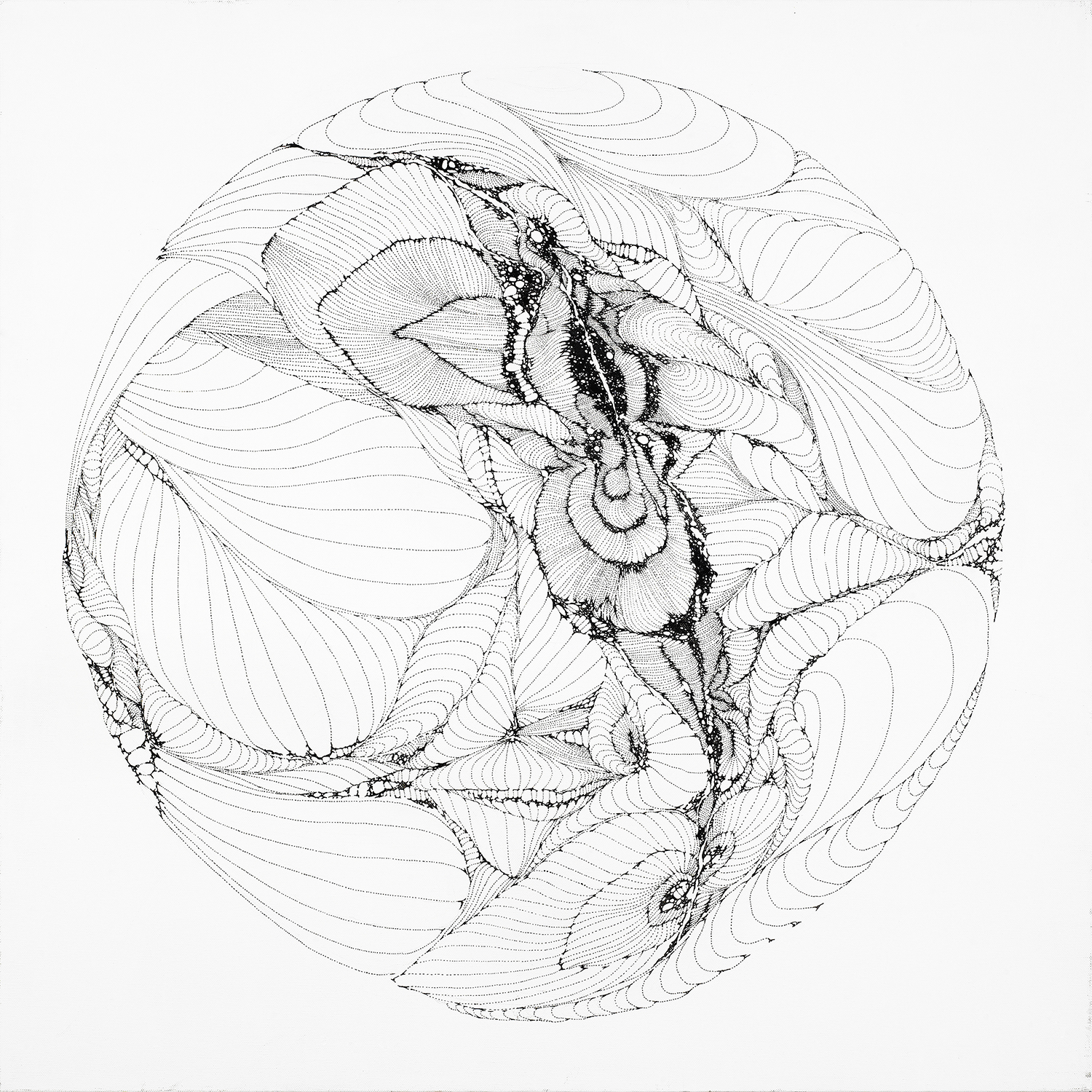 Form 01, ink on canvas, 30x30 in., 2012
