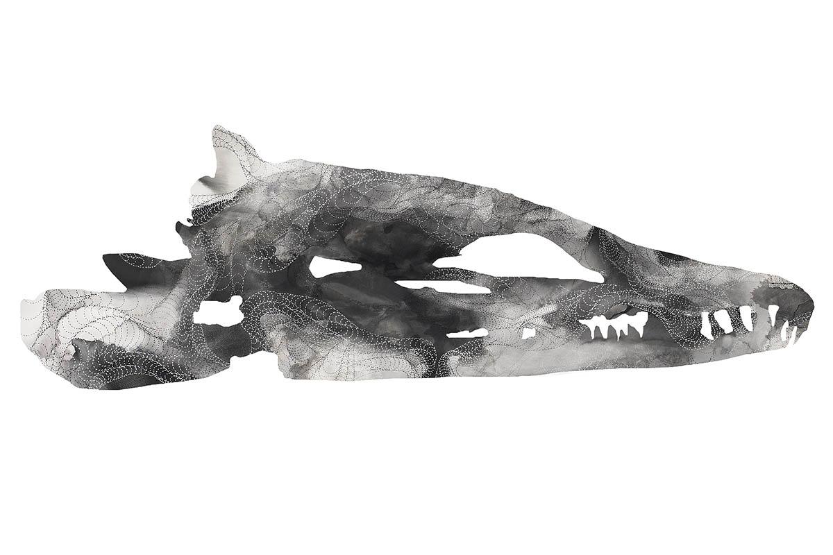 Bones eel, mixedmedia, 2013