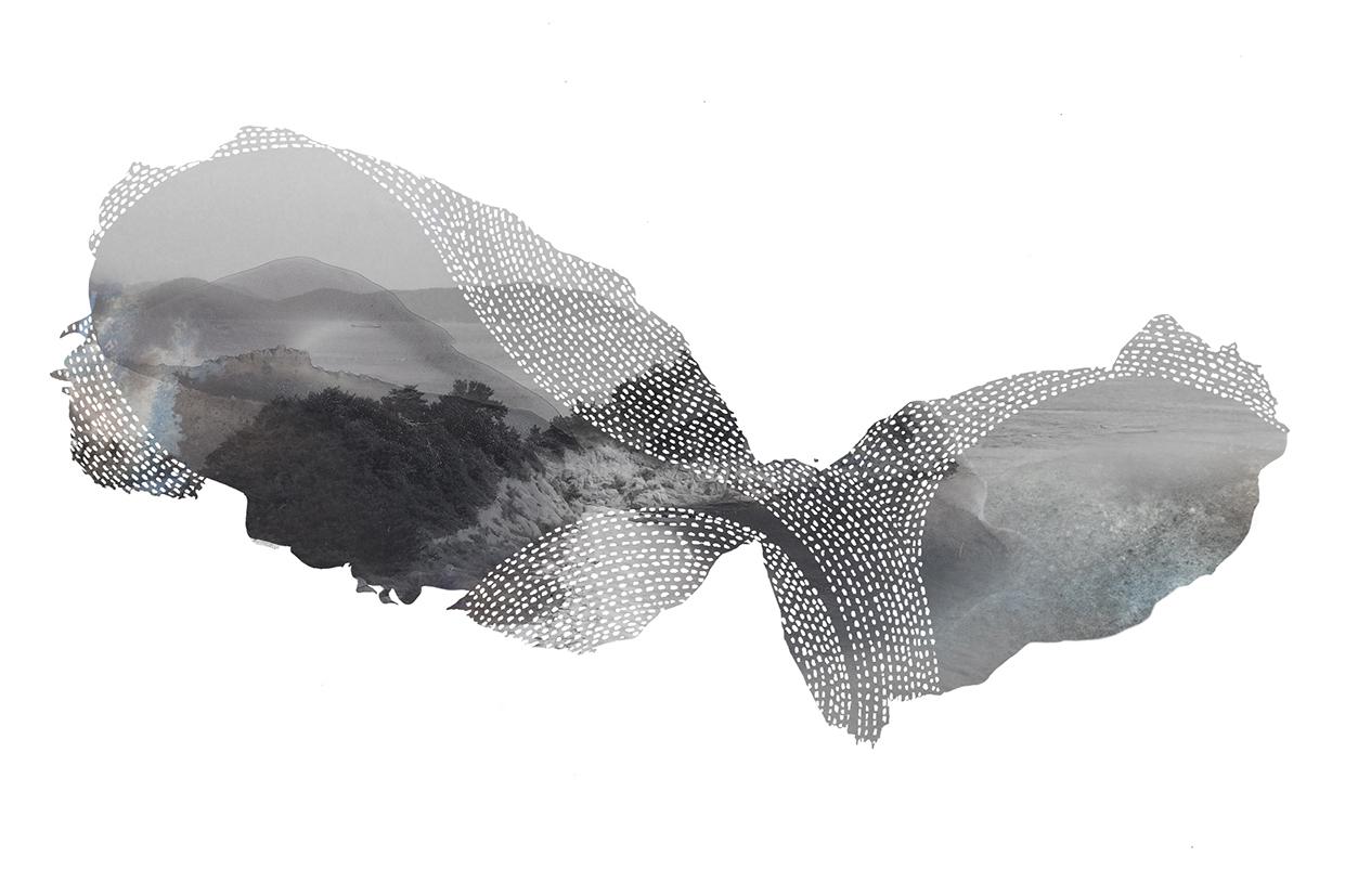 Islands 01, mixedmedia, 10 x 6 inches, 2015